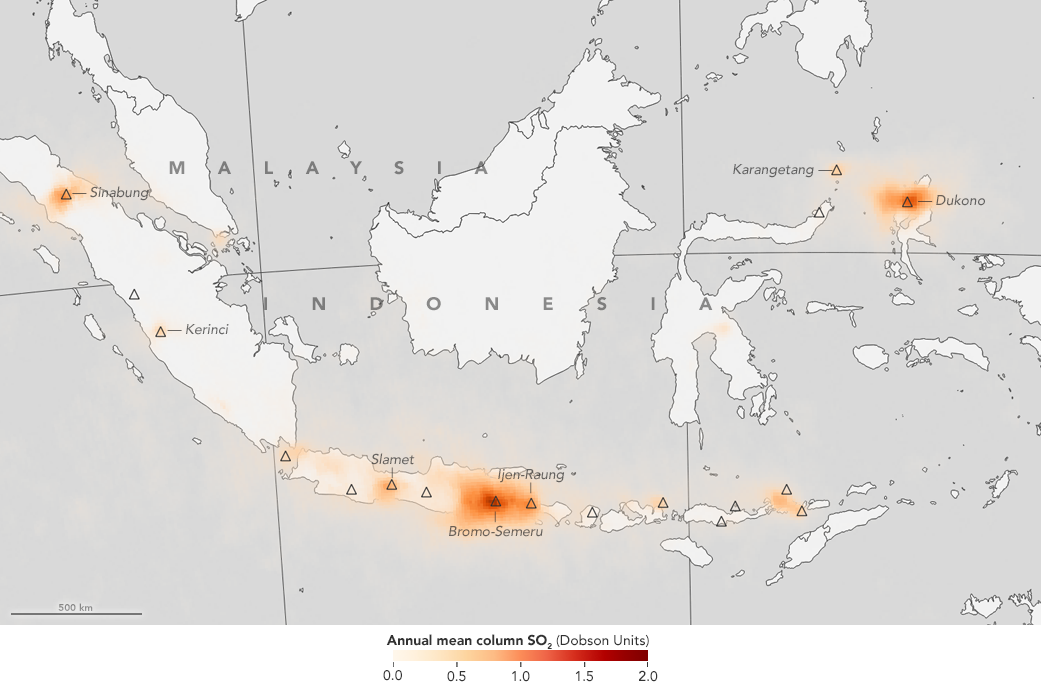 First Global Maps of Volcanic Emissions Use NASA Satellite Data | NASA
