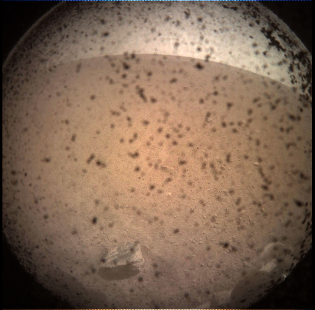 NASA's InSight Lander Takes First Images after Touching Down at Mars