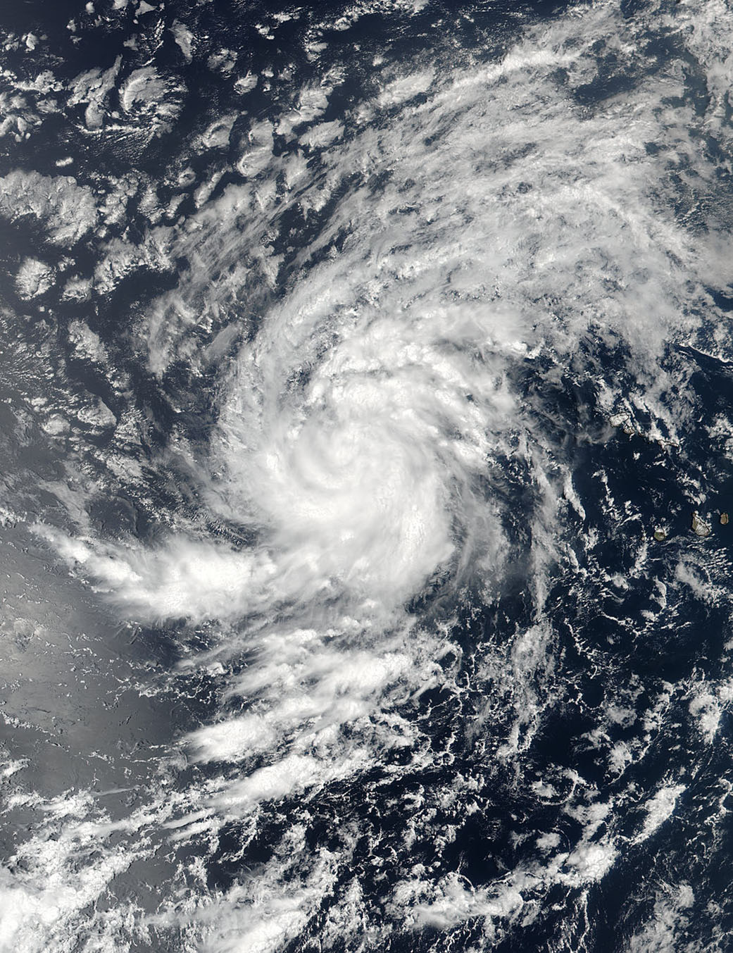 On Aug. 30 at 11:36 a.m. EDT (1536 UTC) NASA-NOAA's Suomi NPP satellite captured a visible image of Tropical Storm Irma in the Eastern Atlantic Ocean. Credits: NASA/NOAA, Goddard Rapid Response Team