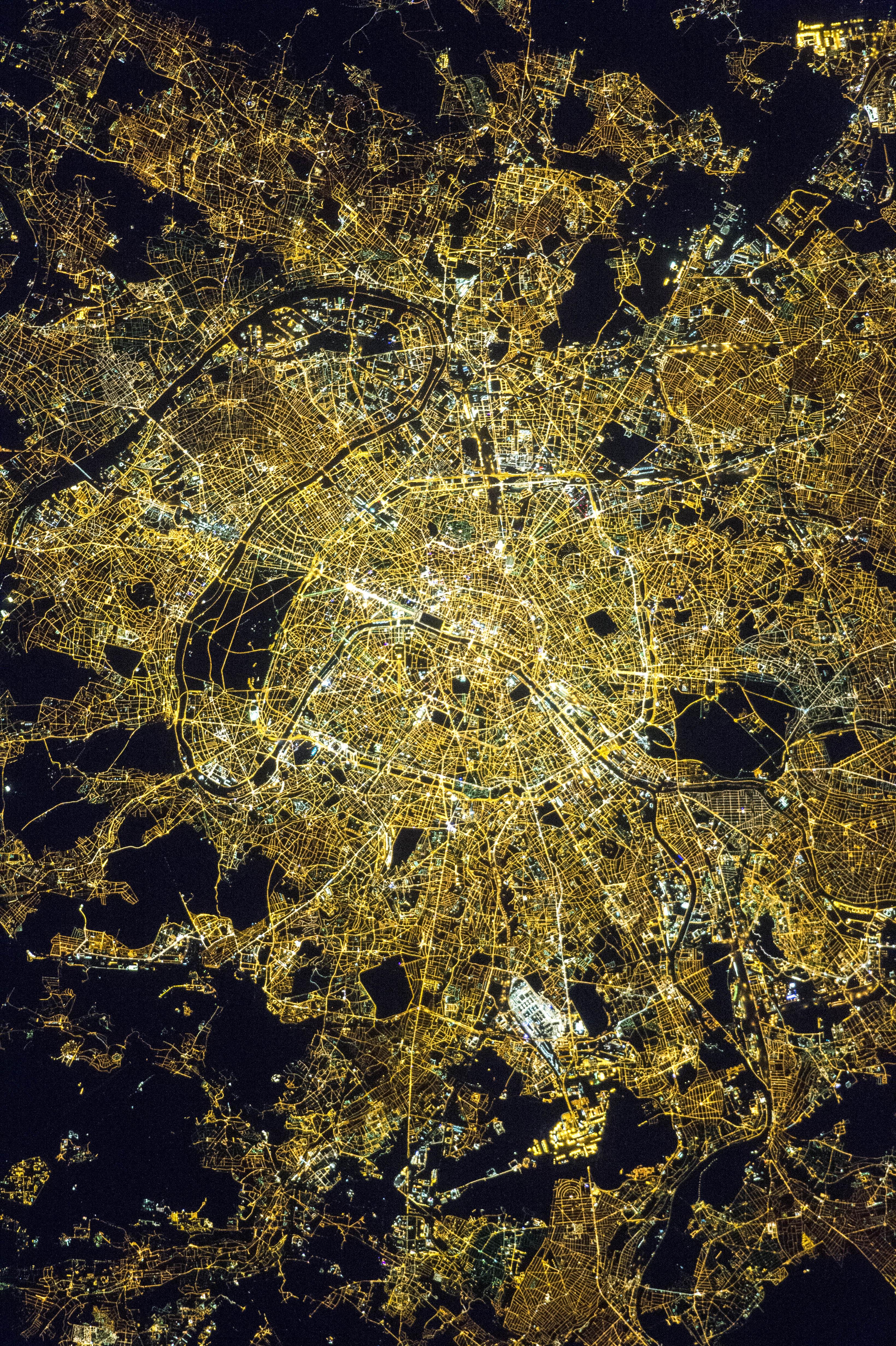 Paris At Night Nasa