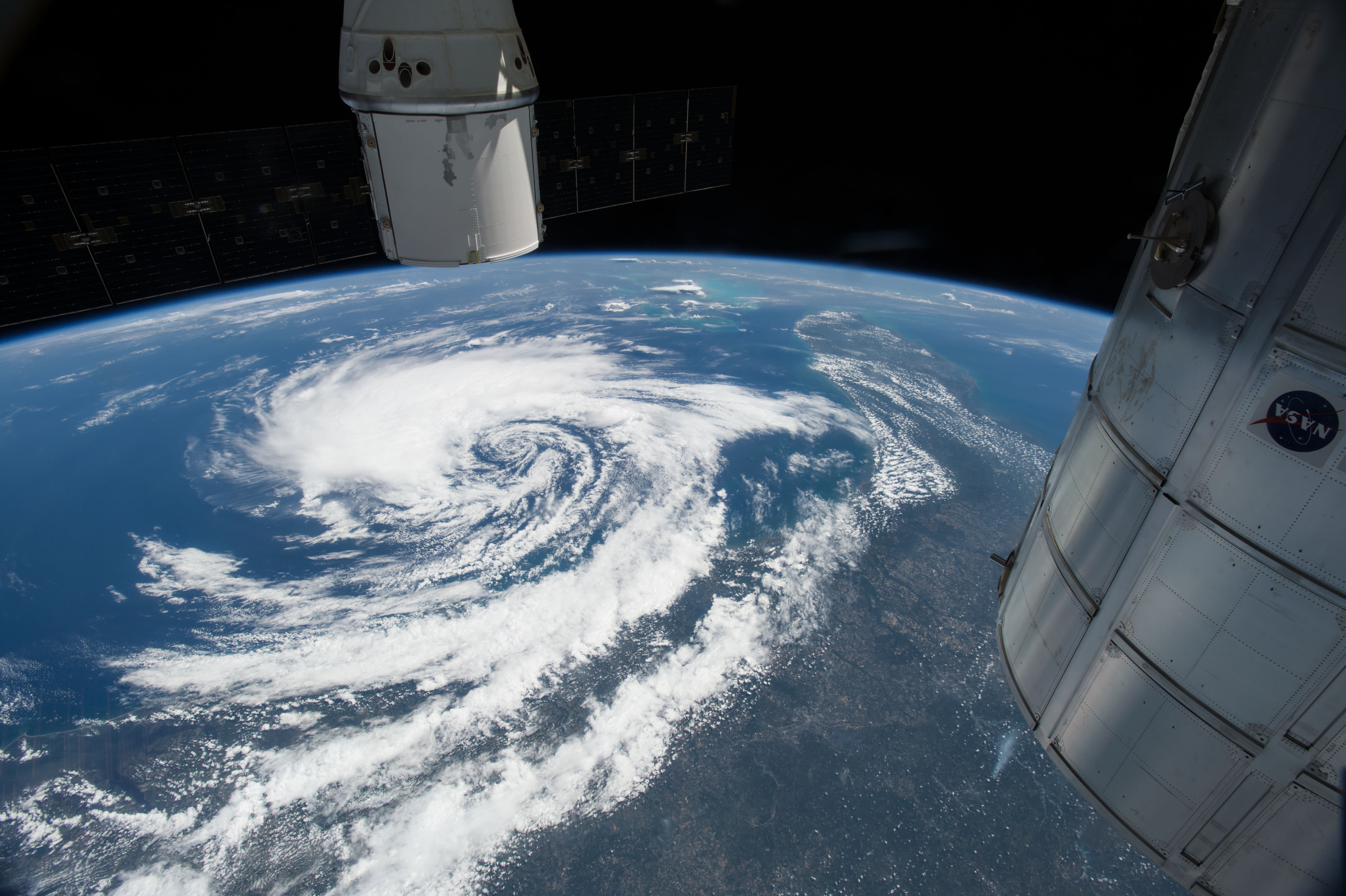 Tropical storm anna nasa for Space station florida