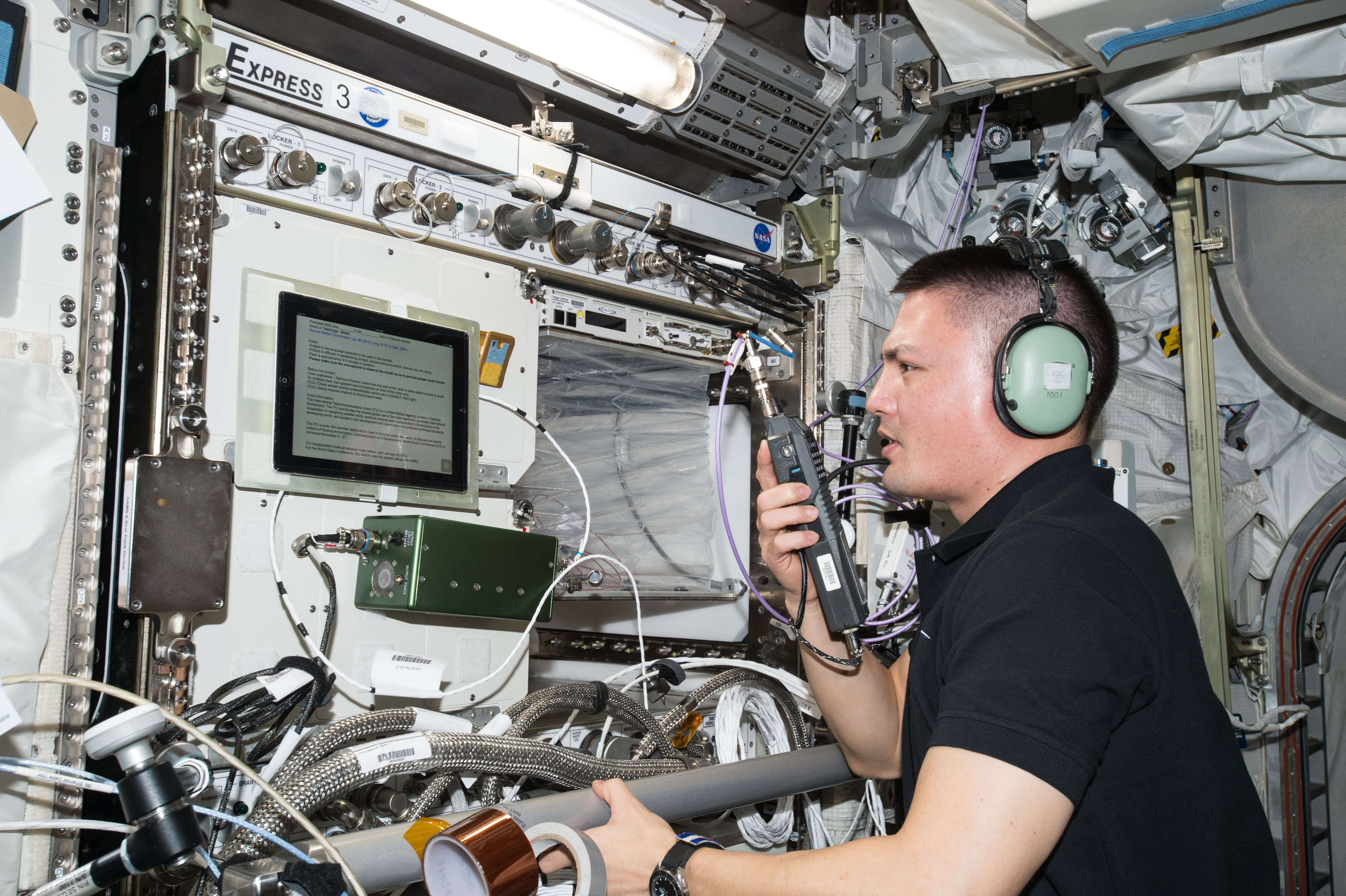 major competition stations ham radio NASA astronaut Kjell Lindgren