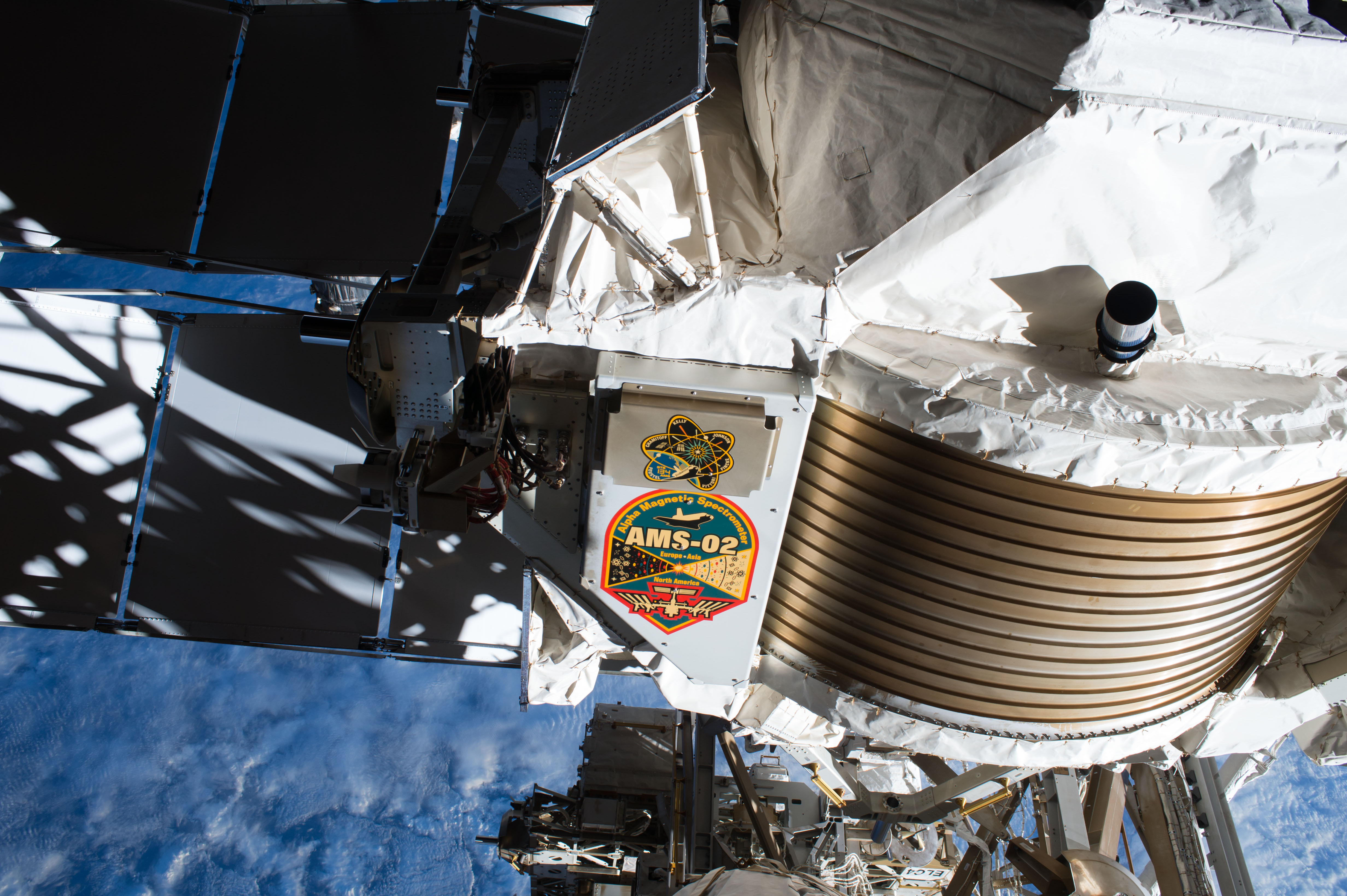 Weekly recap 08282017 from the expedition lead scientist nasa space station a view of the alpha magnetic spectrometer 02 mounted aboard the international space station robcynllc Image collections