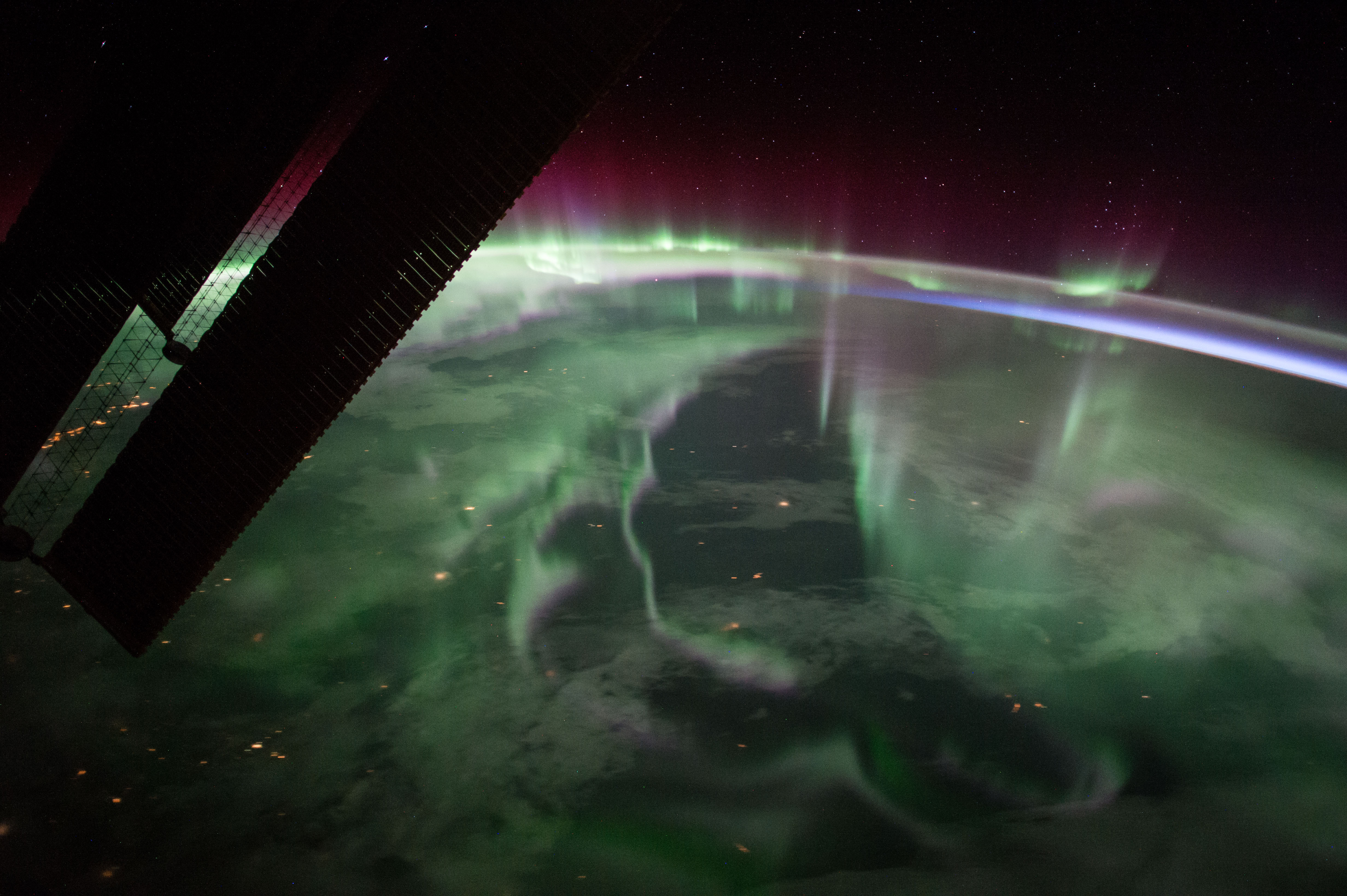 Northern Lights Over Canada