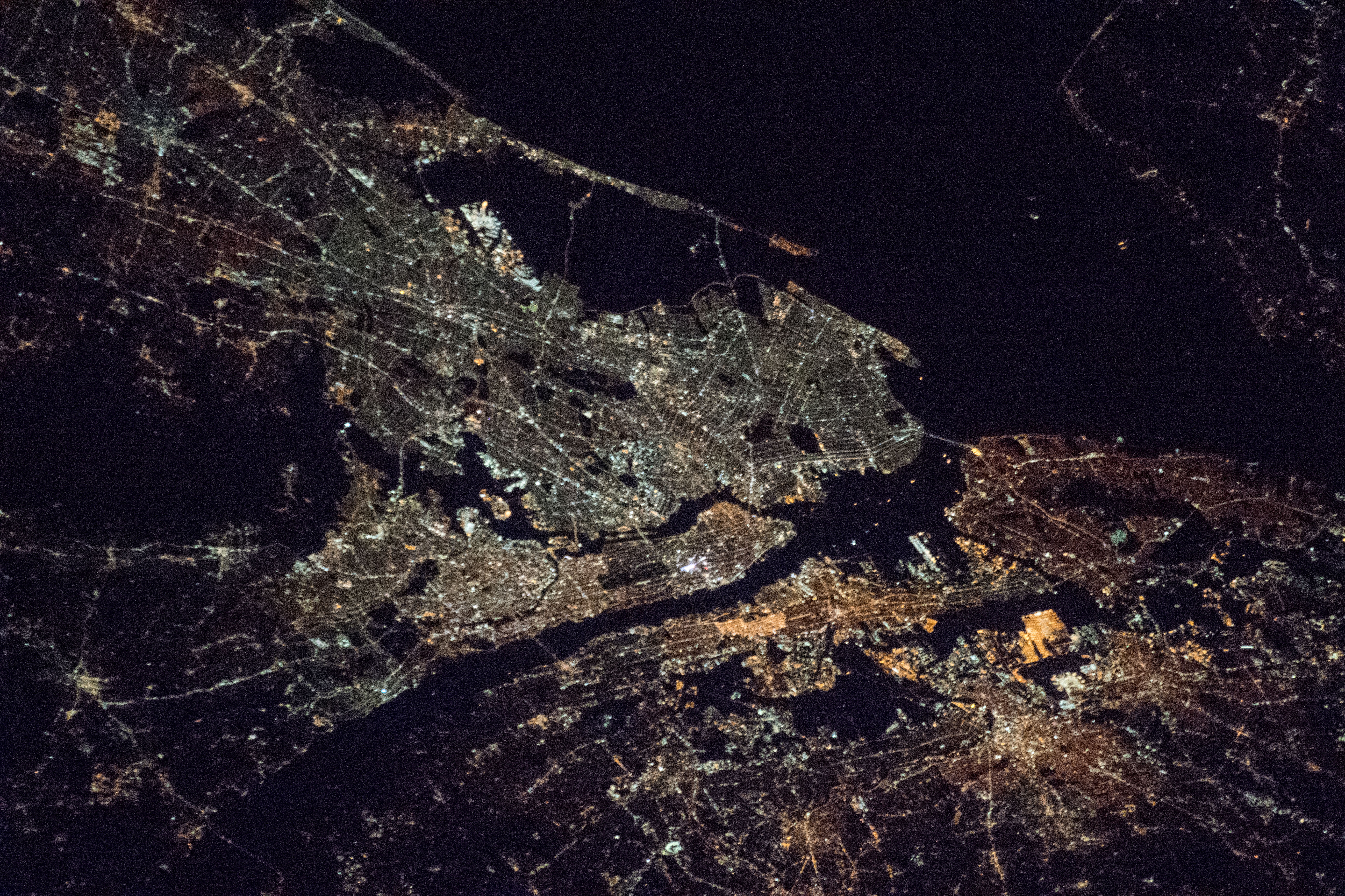 Night Lights Of New York City Nasa