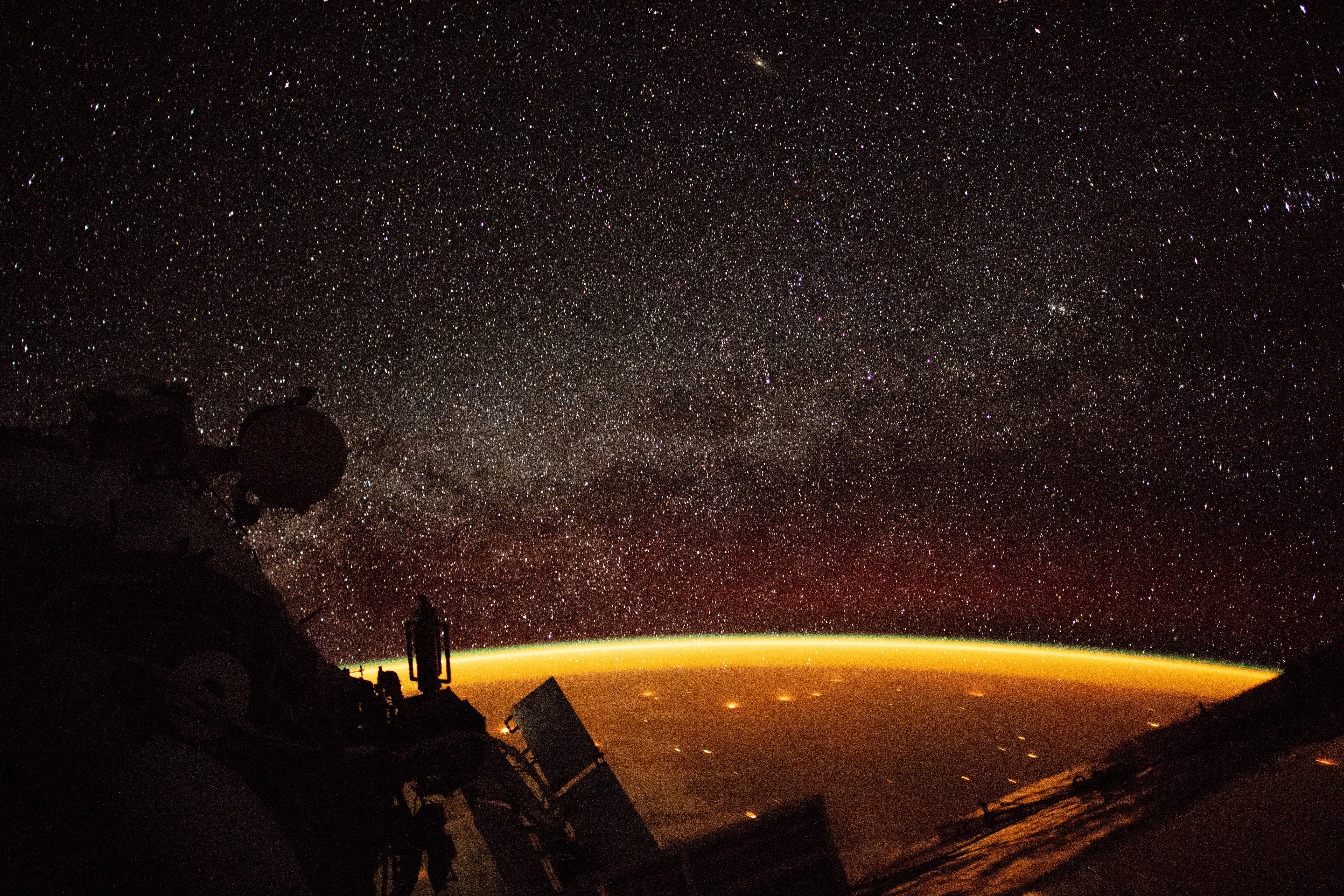 Earth Enveloped in Airglow