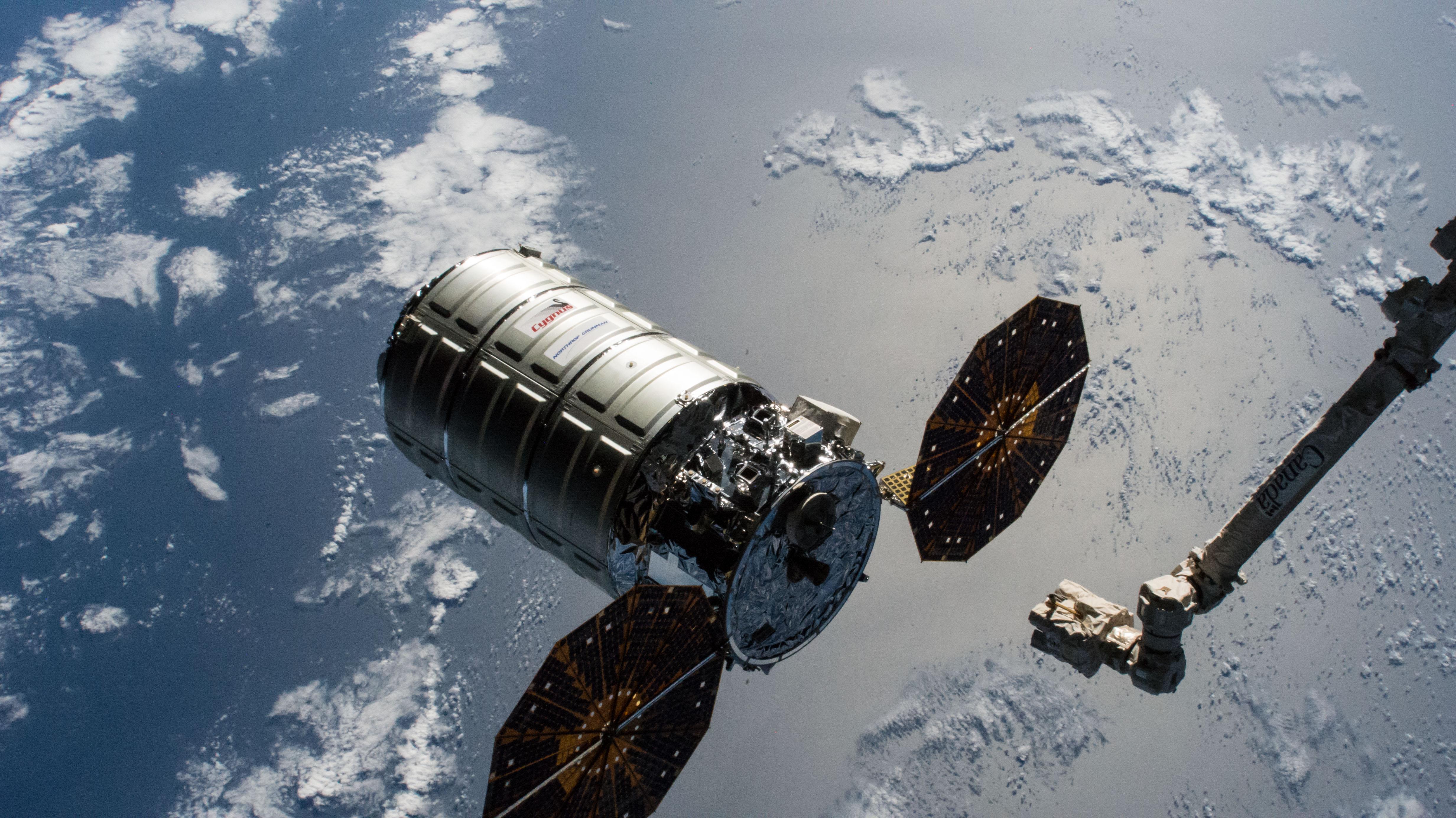 The Cygnus cargo craft from Northrop Grumman | NASA
