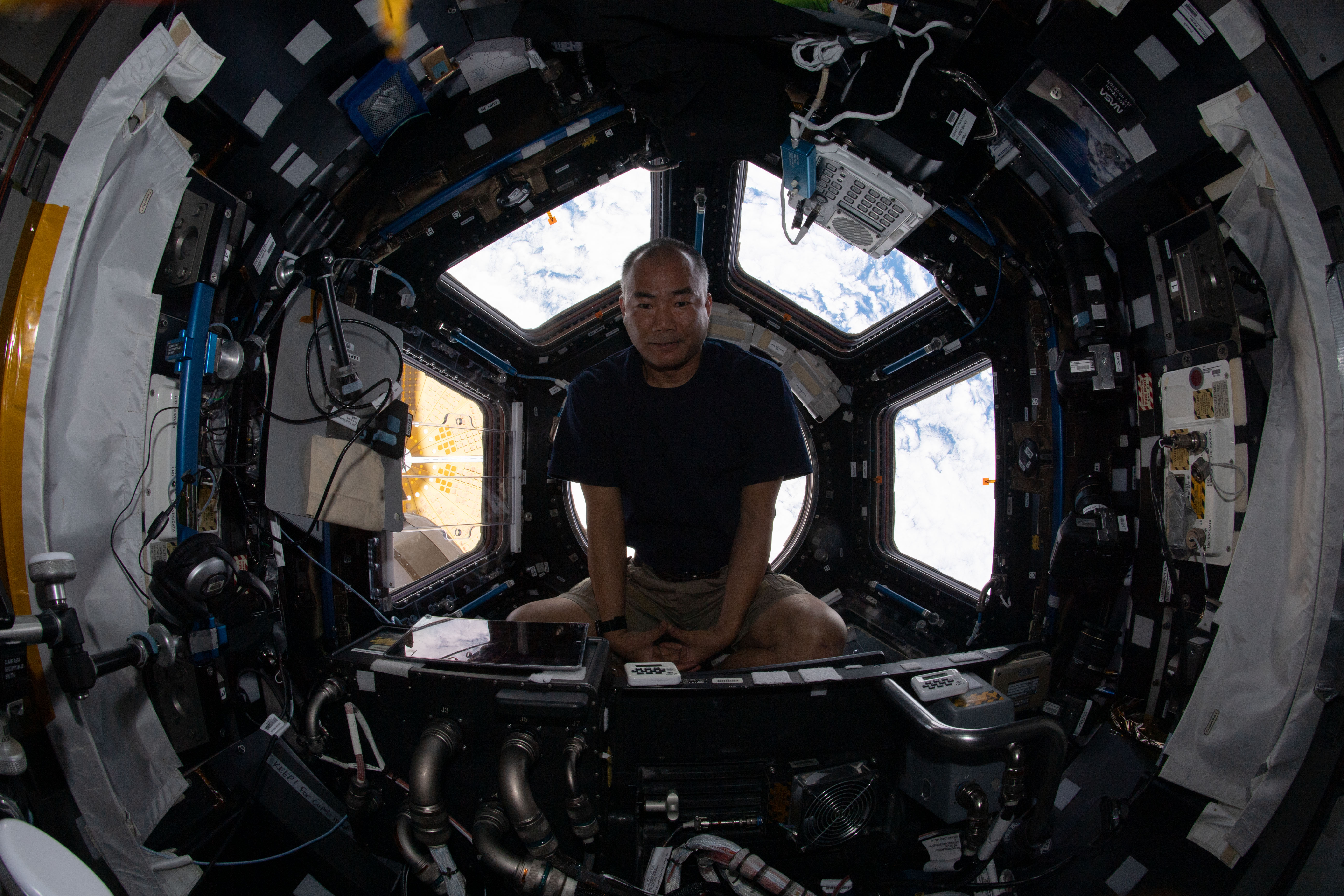 Relaxing Inside the Space Station's Window to the World