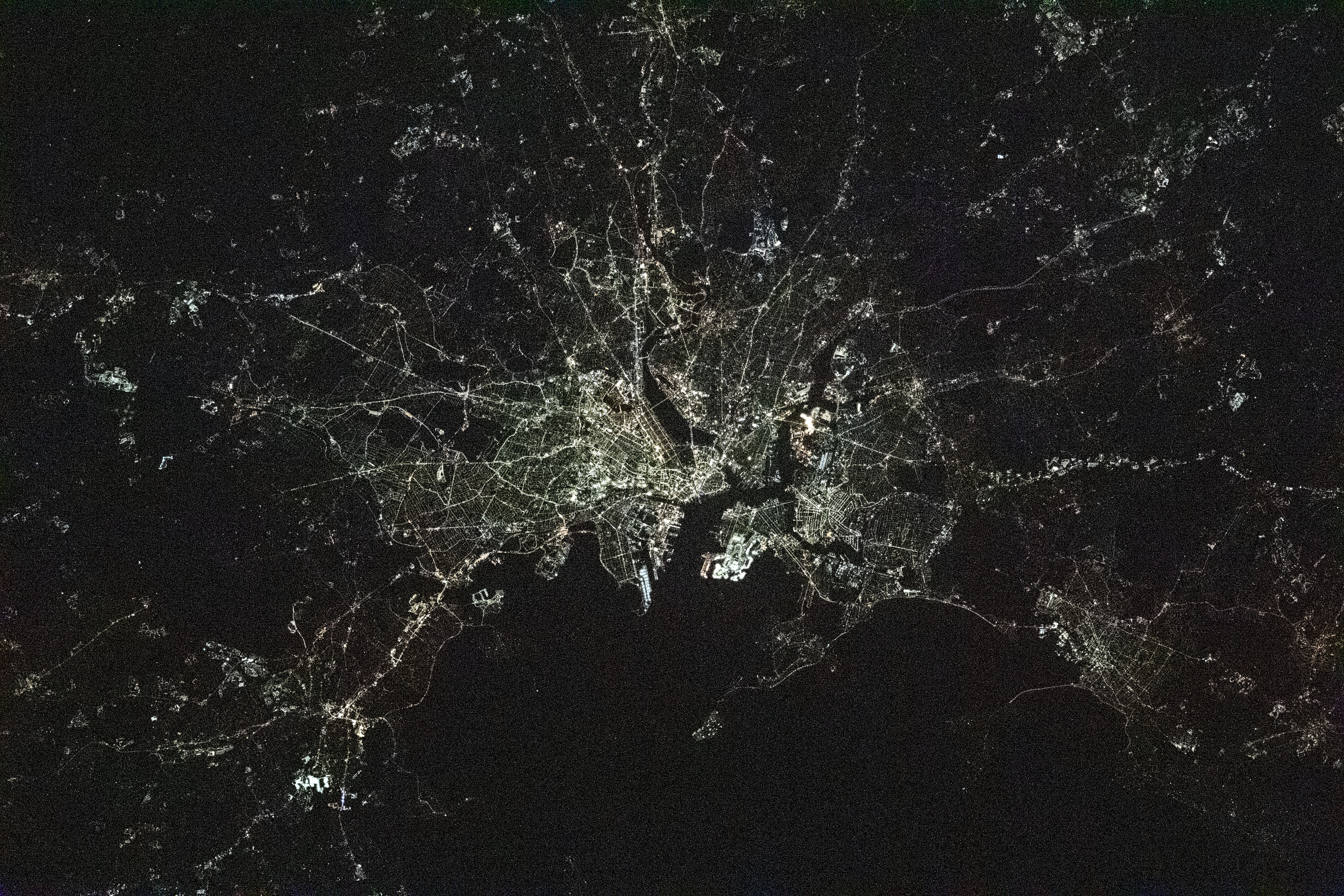 Behold: The City of Boston at Night!