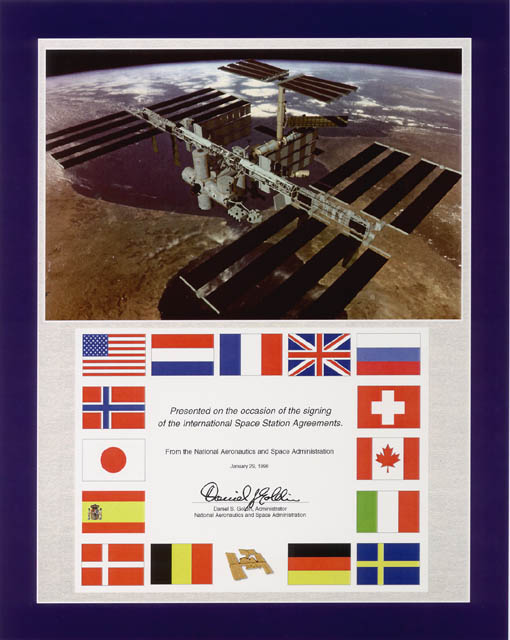 20 Years Ago Space Station Partners Sign Intergovernmental