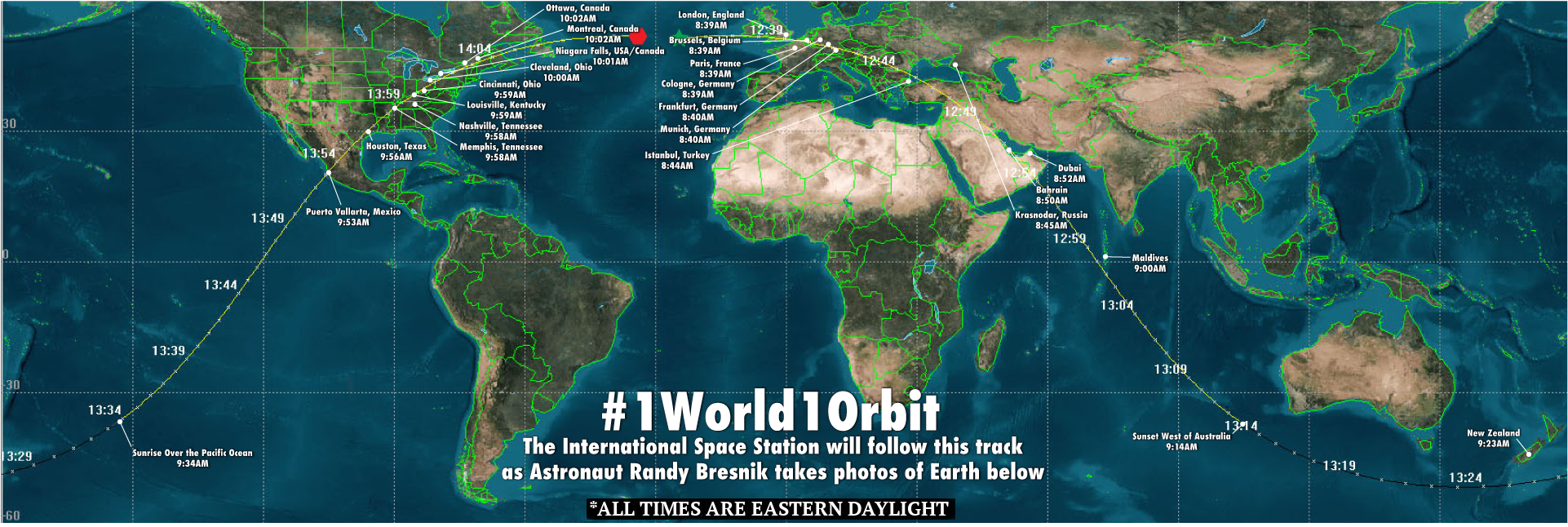 Space station crew invites public along for photo trip around earth bresnik 1world1orbit graphic gumiabroncs Choice Image