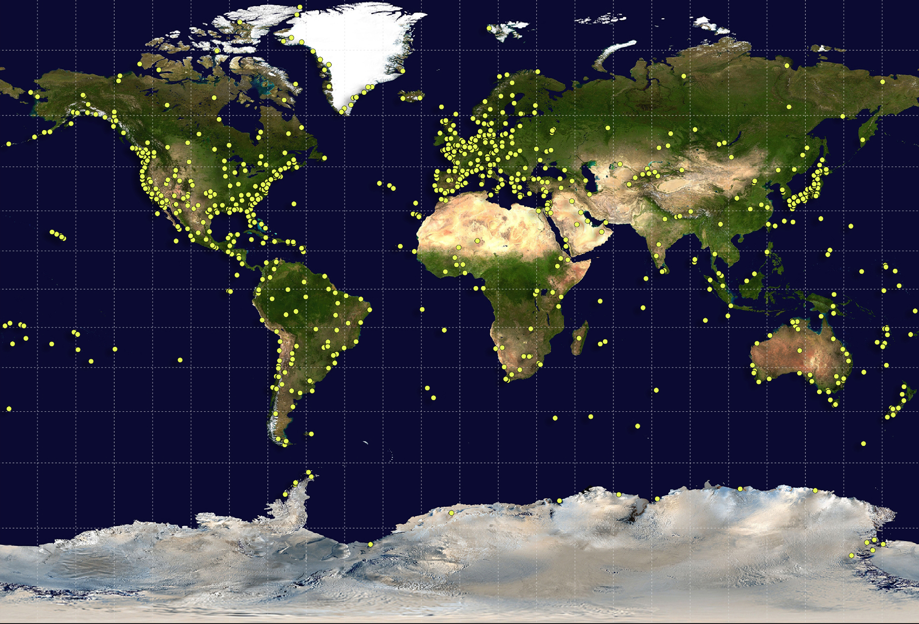 NASA Contributes To Global Standard For Navigation Studies Of - World satellite map 2014