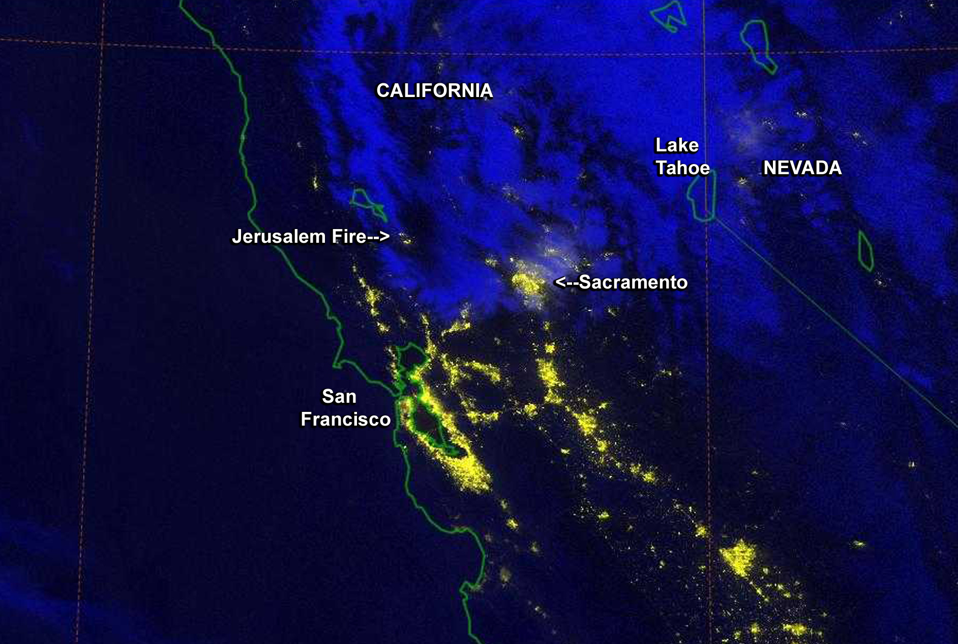 California S Jerusalem Fire At Night Nasa