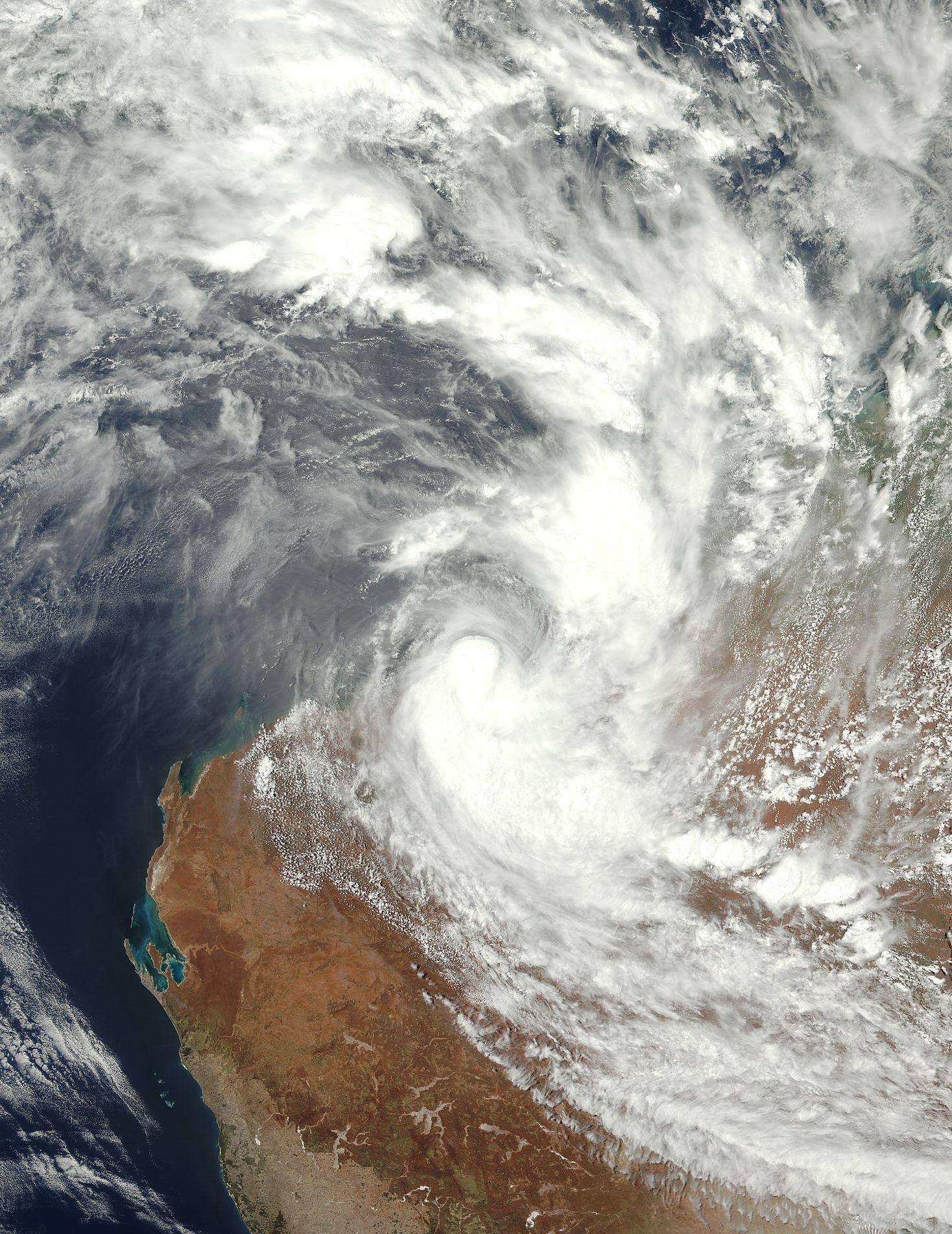Tropical Cyclone Joyce Makes Landfall On Australia S Pilbara Coast Nasa