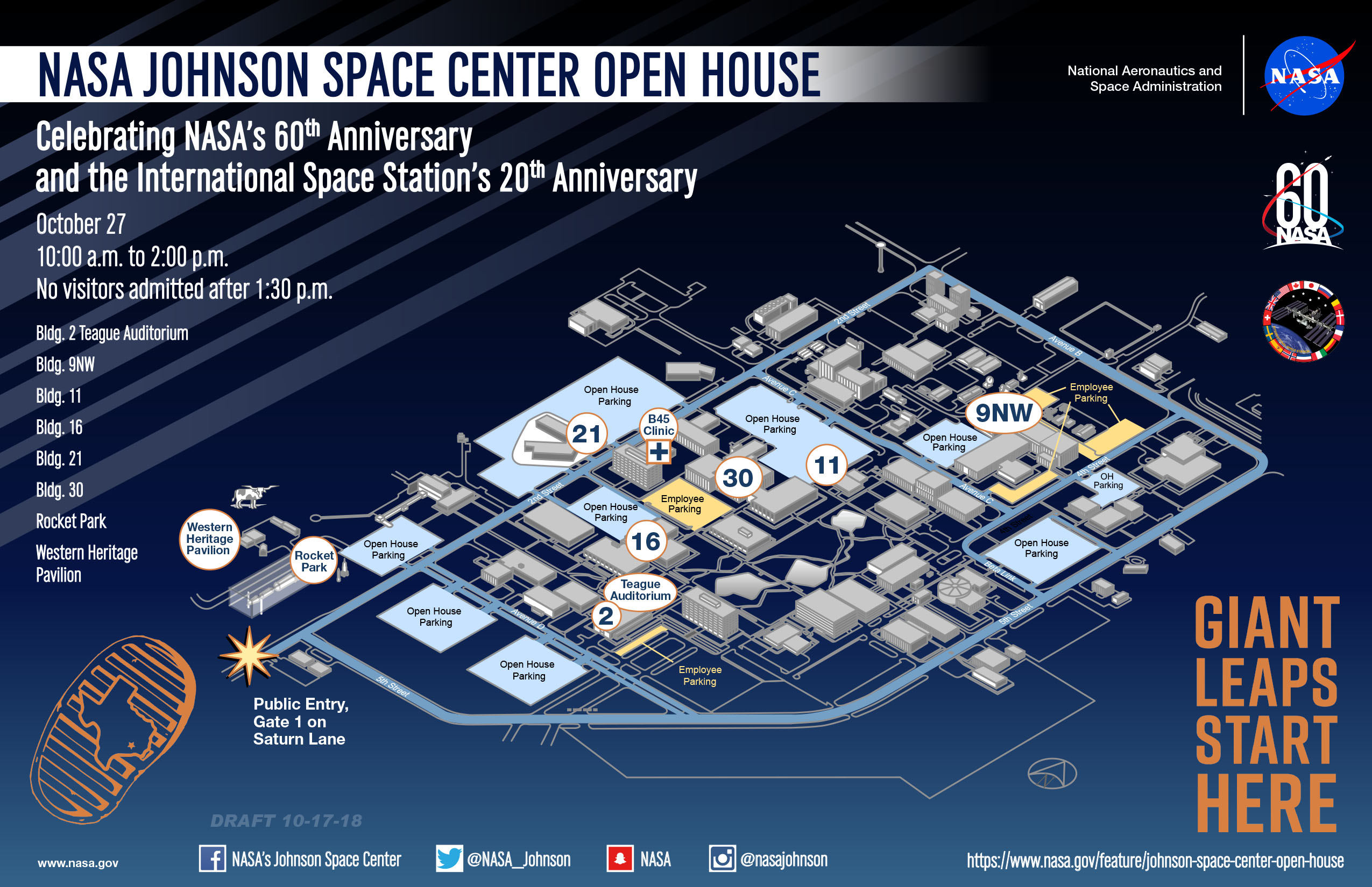 NASA to Welcome Visitors to Johnson Space Center Open House 2018