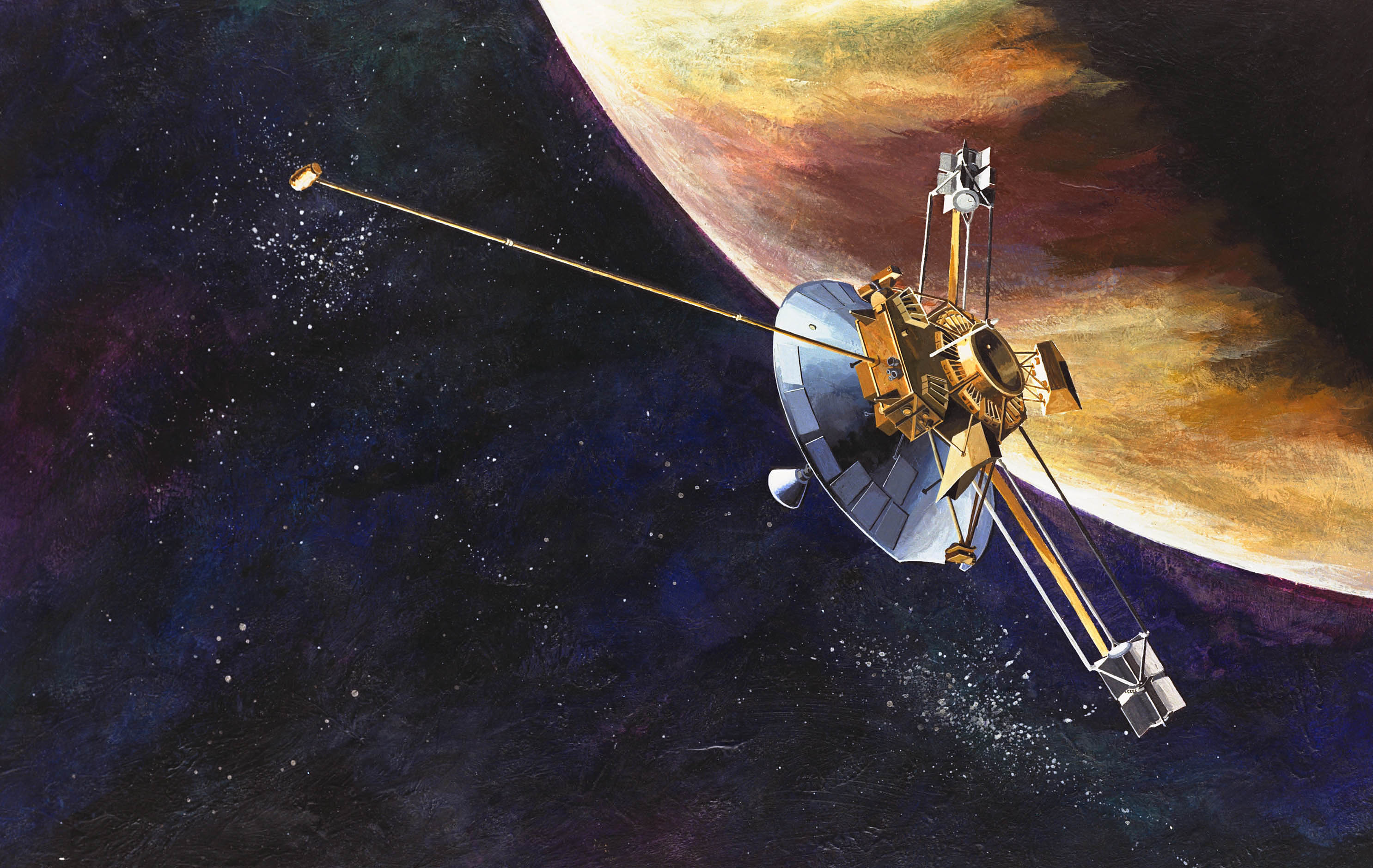 An Artist's Concept Of The Pioneer 10 Spacecraft