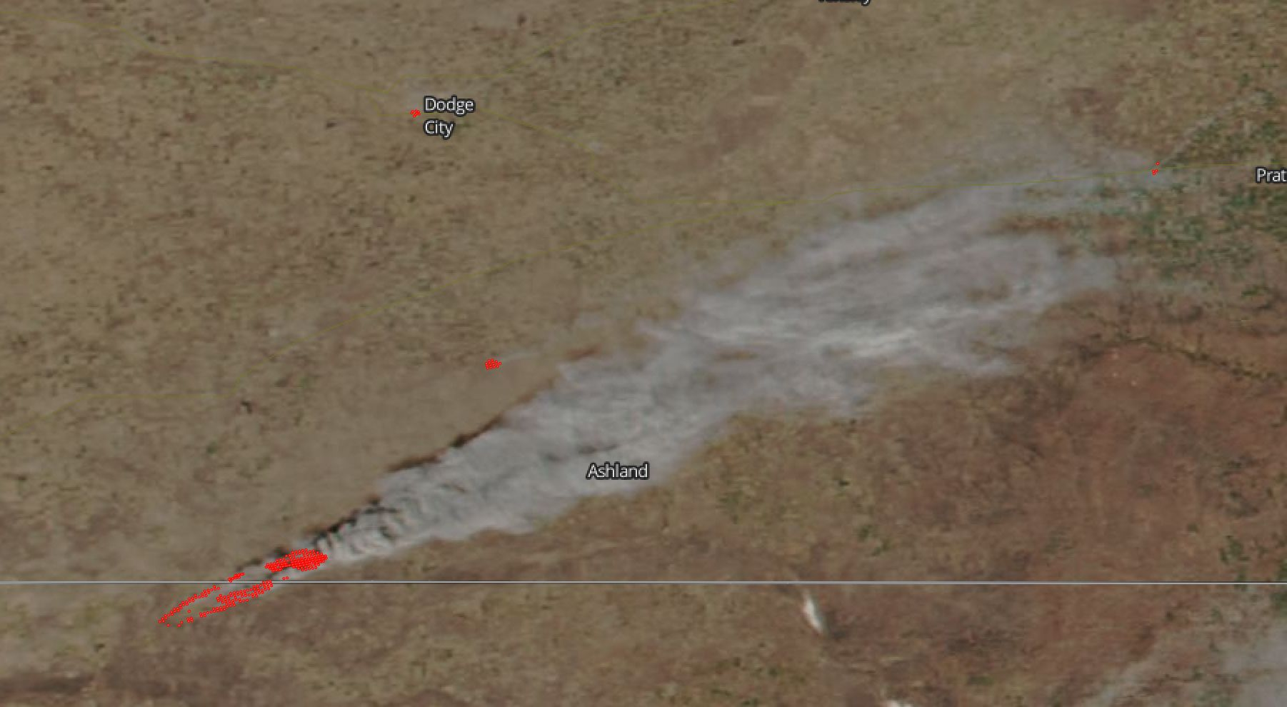 Nasa Spots Grass Fires In Southwestern Kansas