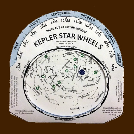 image regarding Star Wheel Printable named Kepler Star Wheels NASA