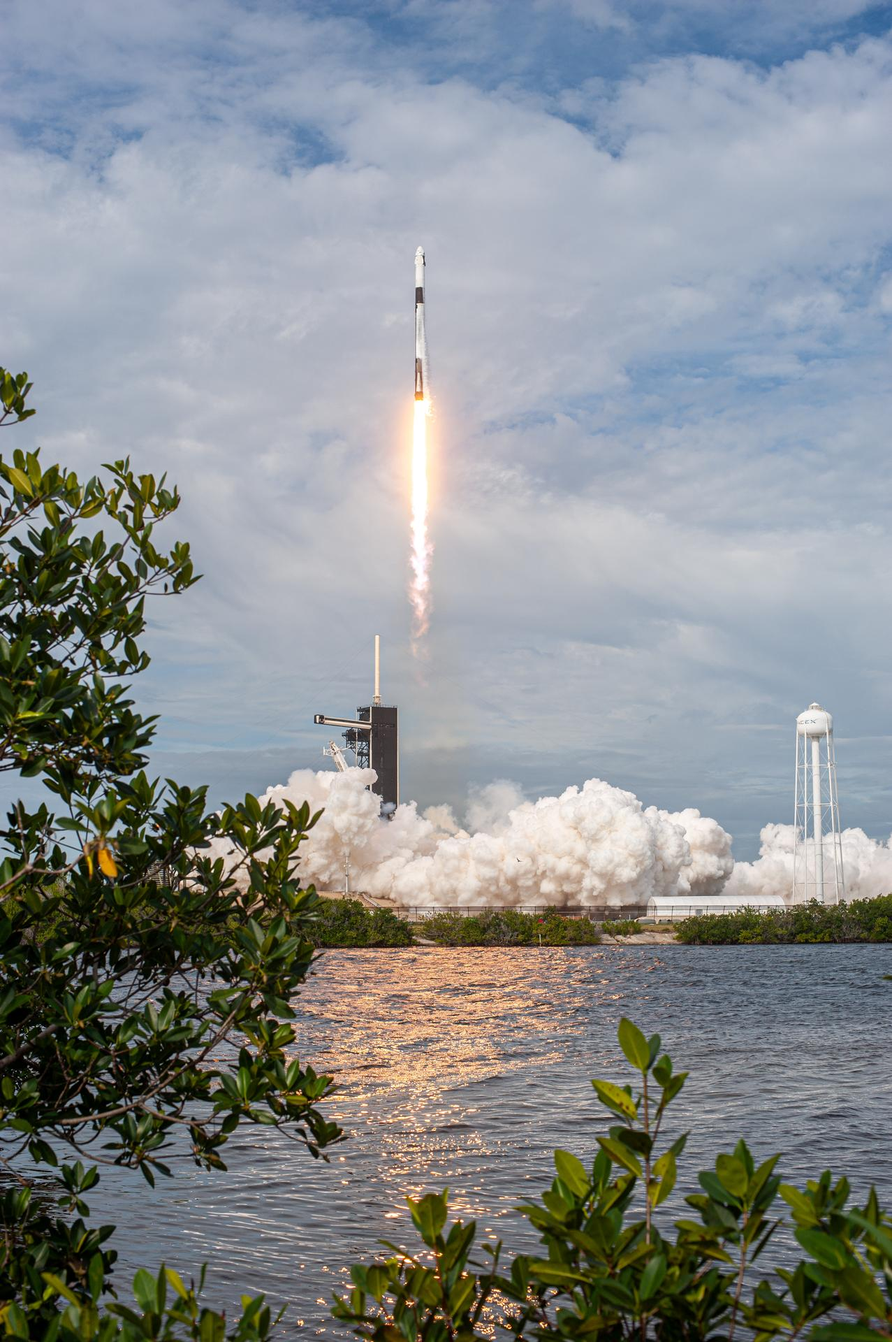 Liftoff of SpaceXs In-Flight Abort Test