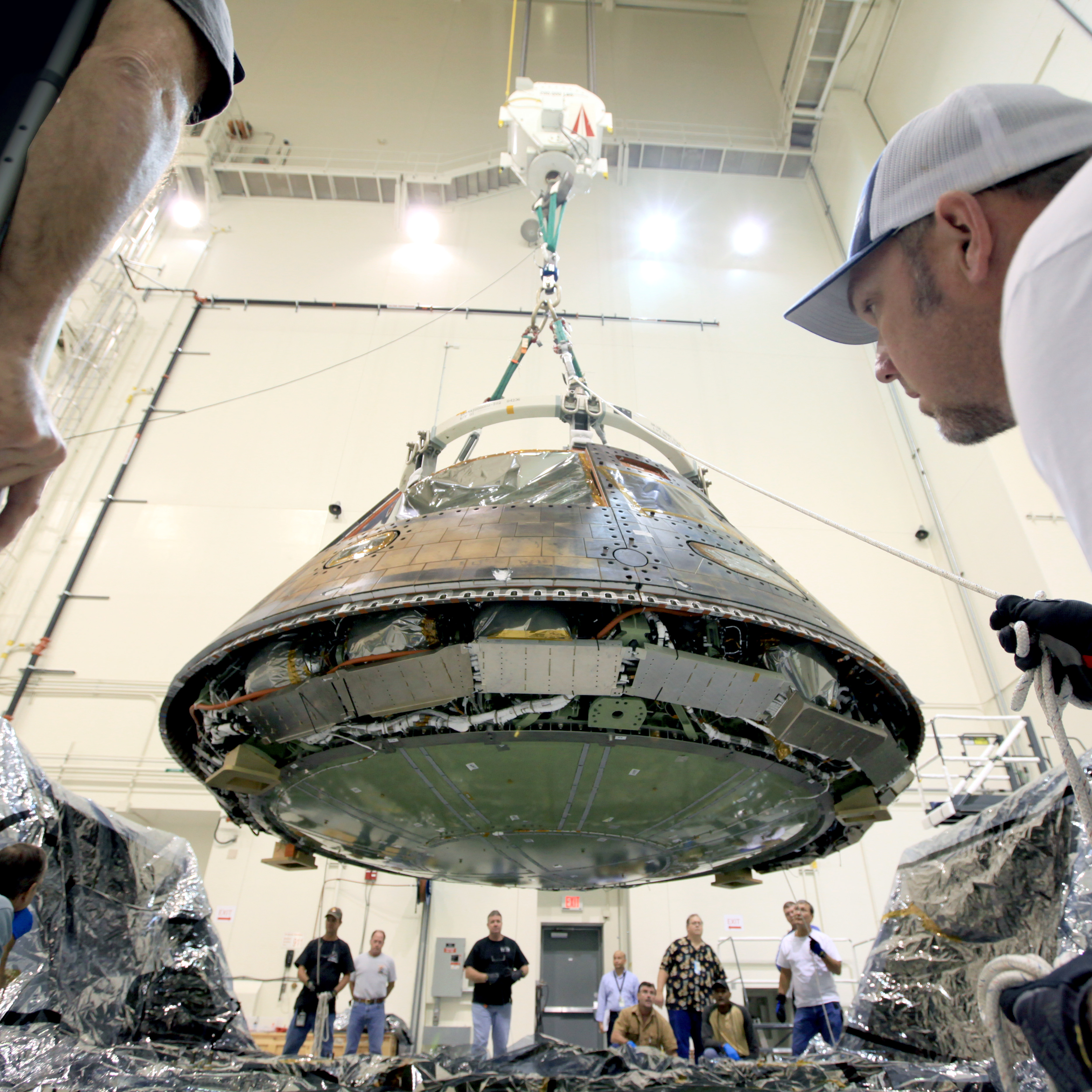 Image result for Orion capsule ready for a manned flight in 2019,