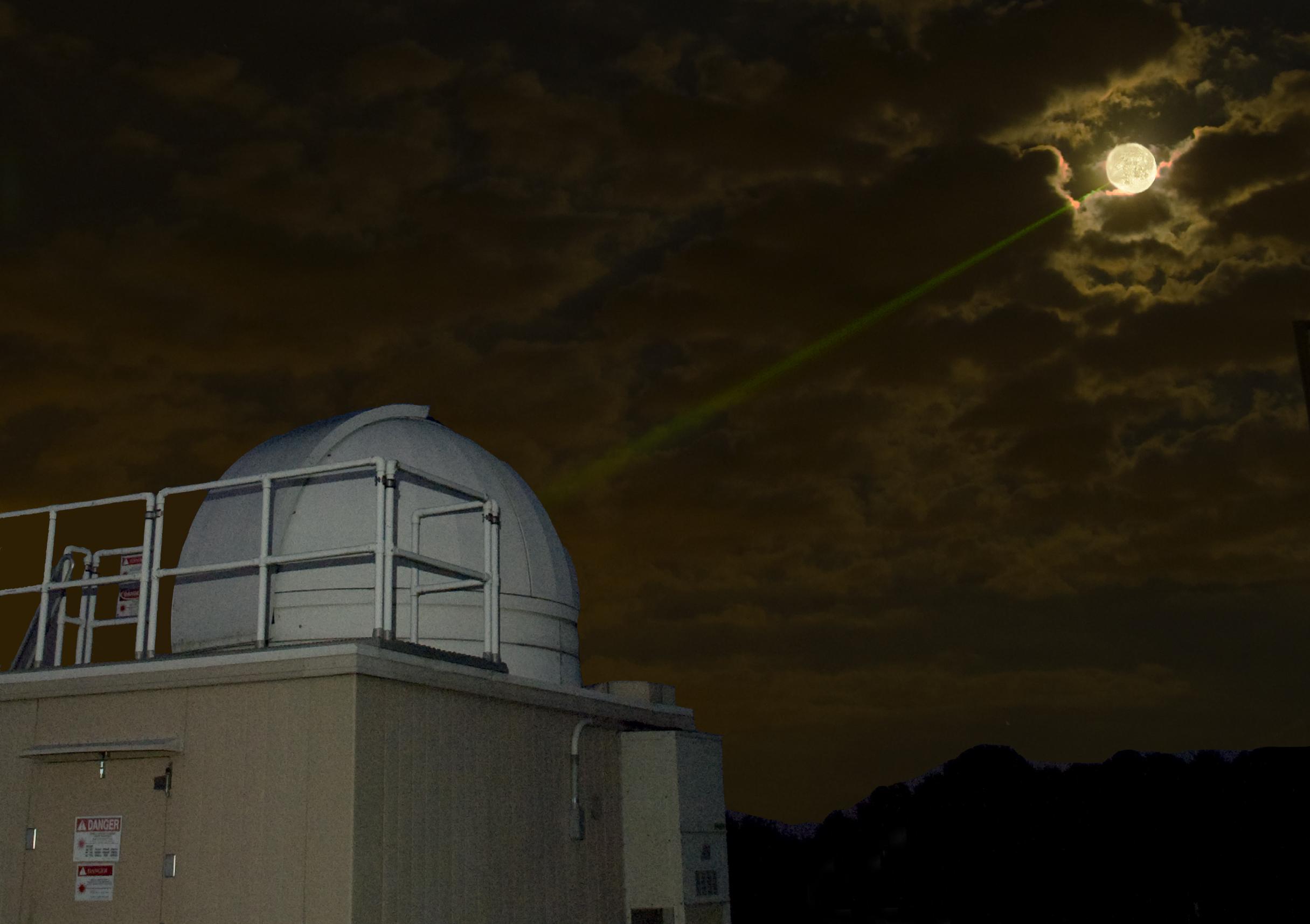 Mars Orbiter Sends First Snap Lasermoon Fall