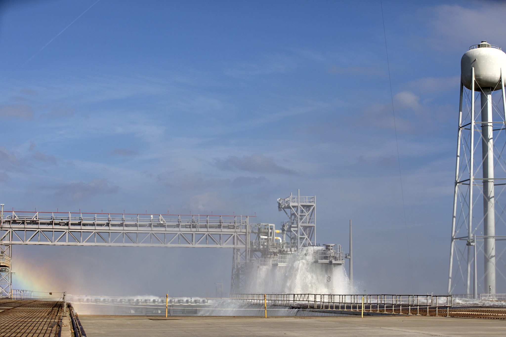 Water Deluge Test is a Success at Launch Pad 39B   NASA