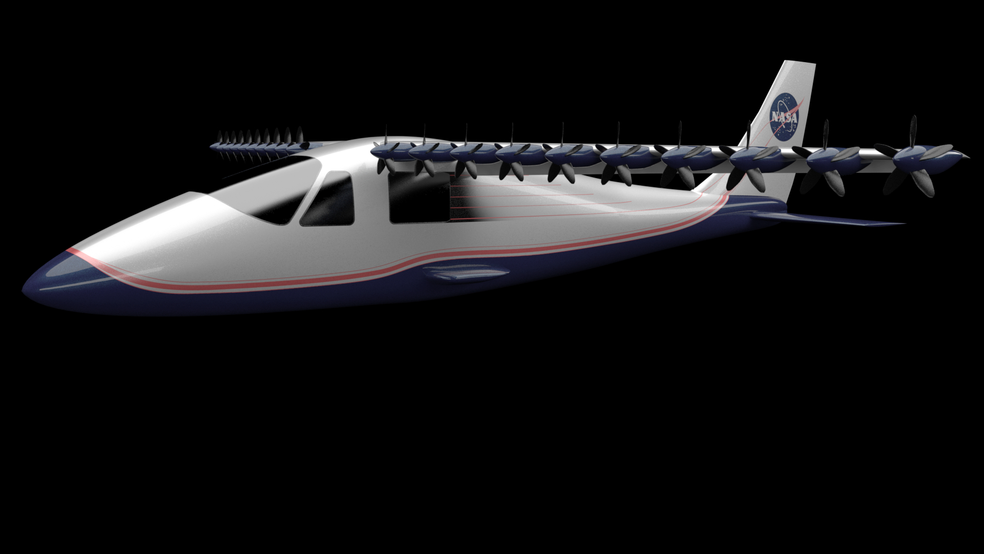 Electric motors with digital control may open new horizons for future aircraft this illustration shows one idea of what the convergent electric propulsion technology x plane demonstrator sciox Choice Image