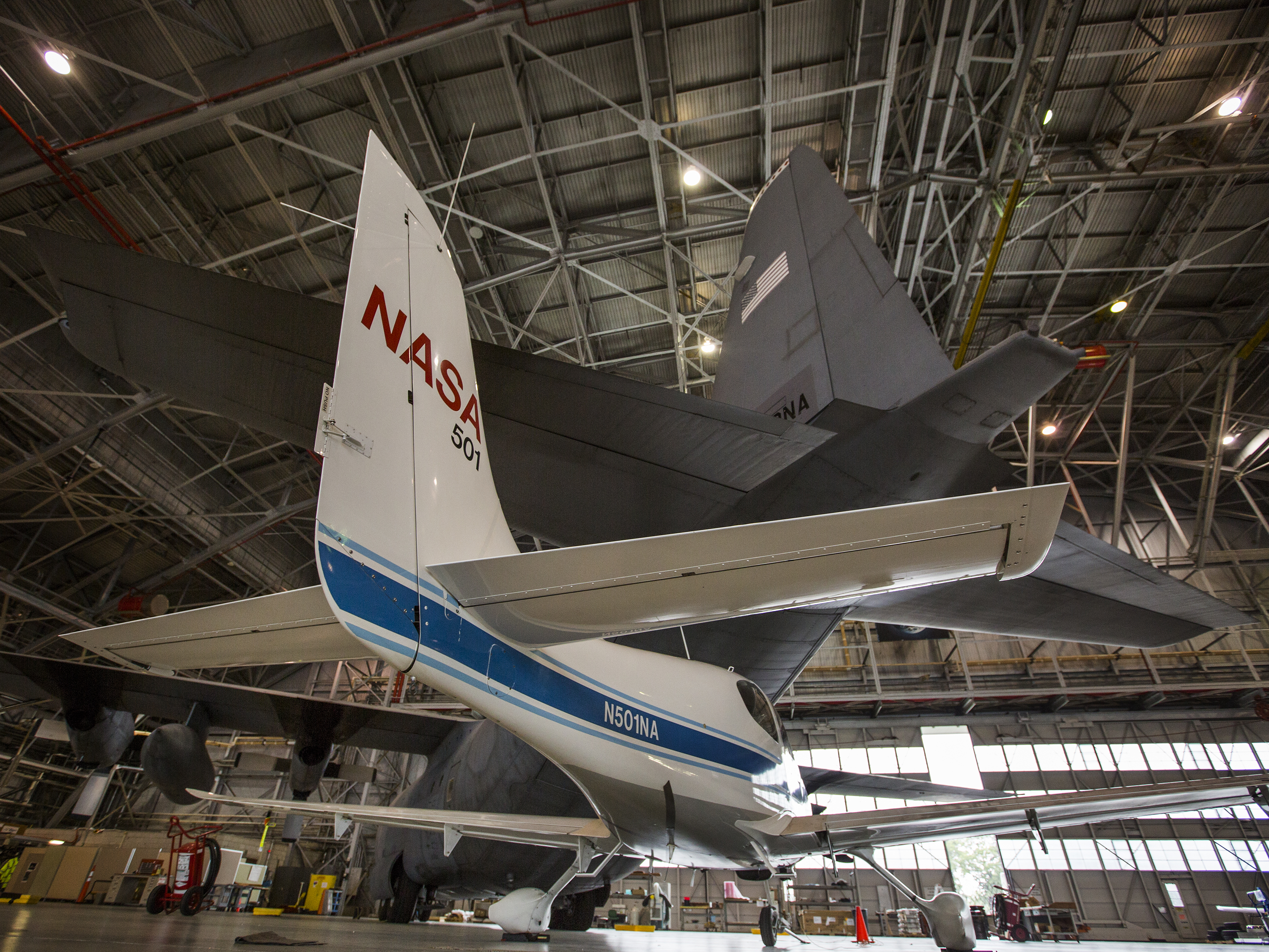 a nasa aircraft in hangar - photo #6