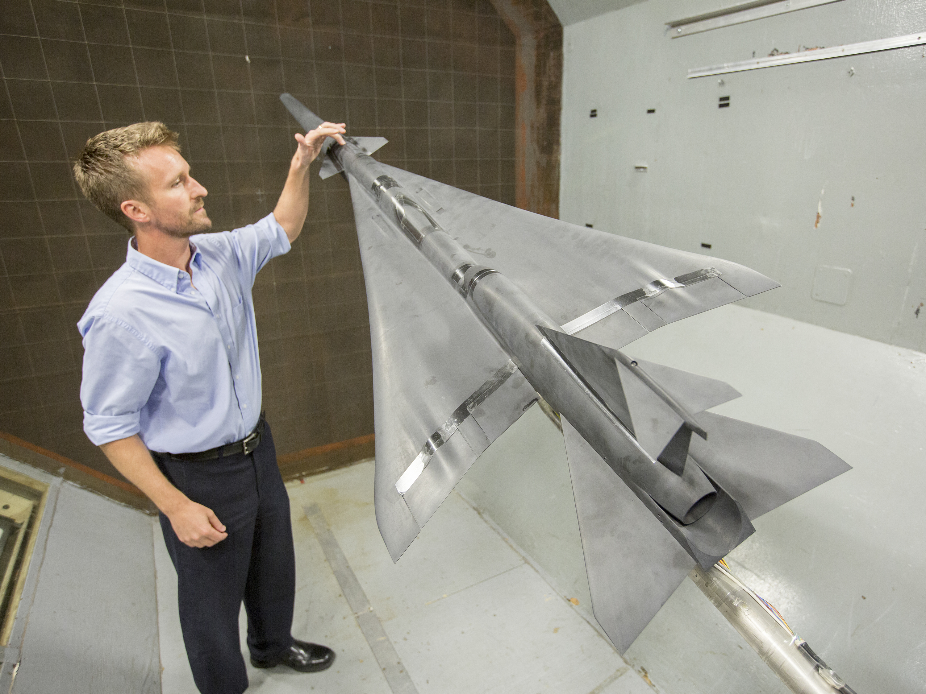 Media Invited to Witness X-plane Wind Tunnel Test   NASA