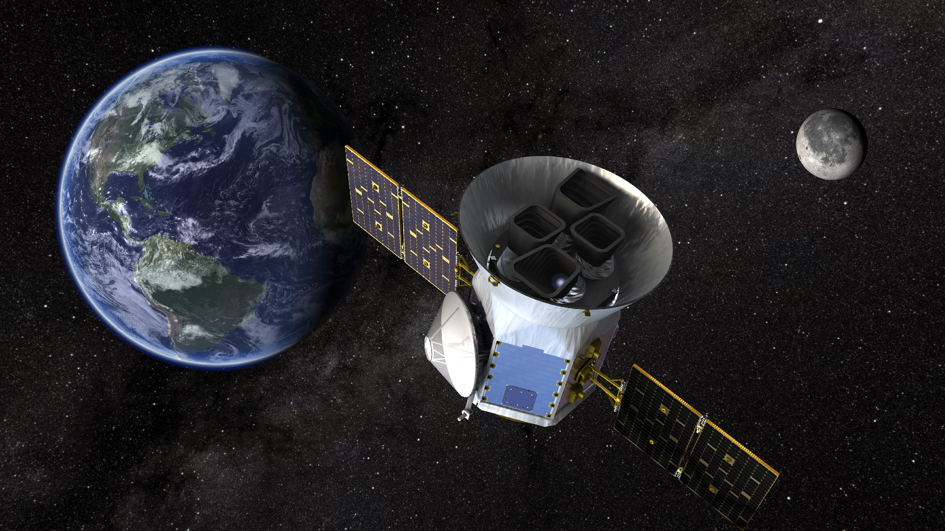 Vesmírný teleskop TESS úspěšně vyletěl do vesmíru, nyní ho čeká průlet kolem Měsíce