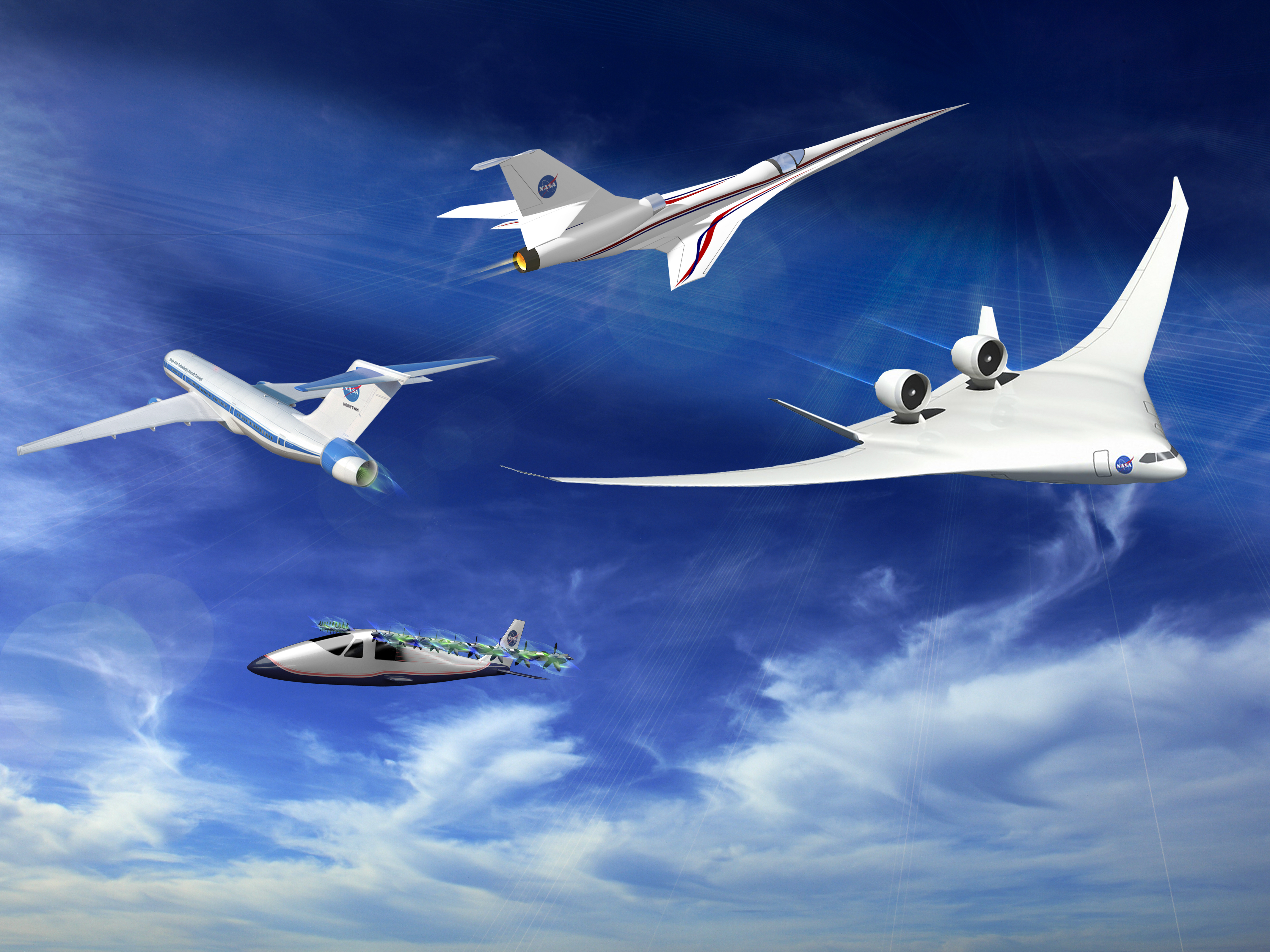 beauty of future airplanes is more than skin deep nasa