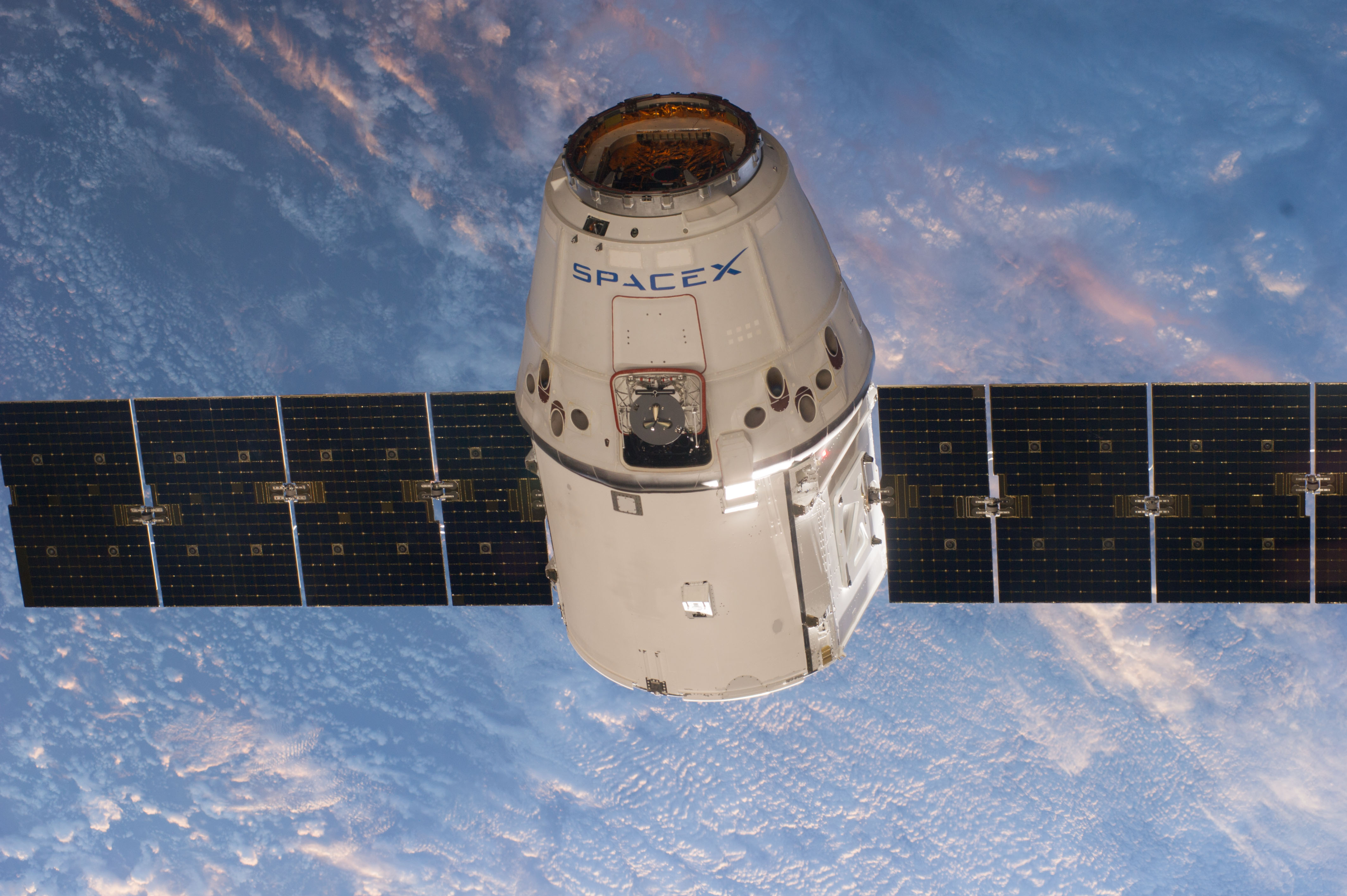 spacex commercial resupply services crs dragon spacecraft in orbit credits nasa