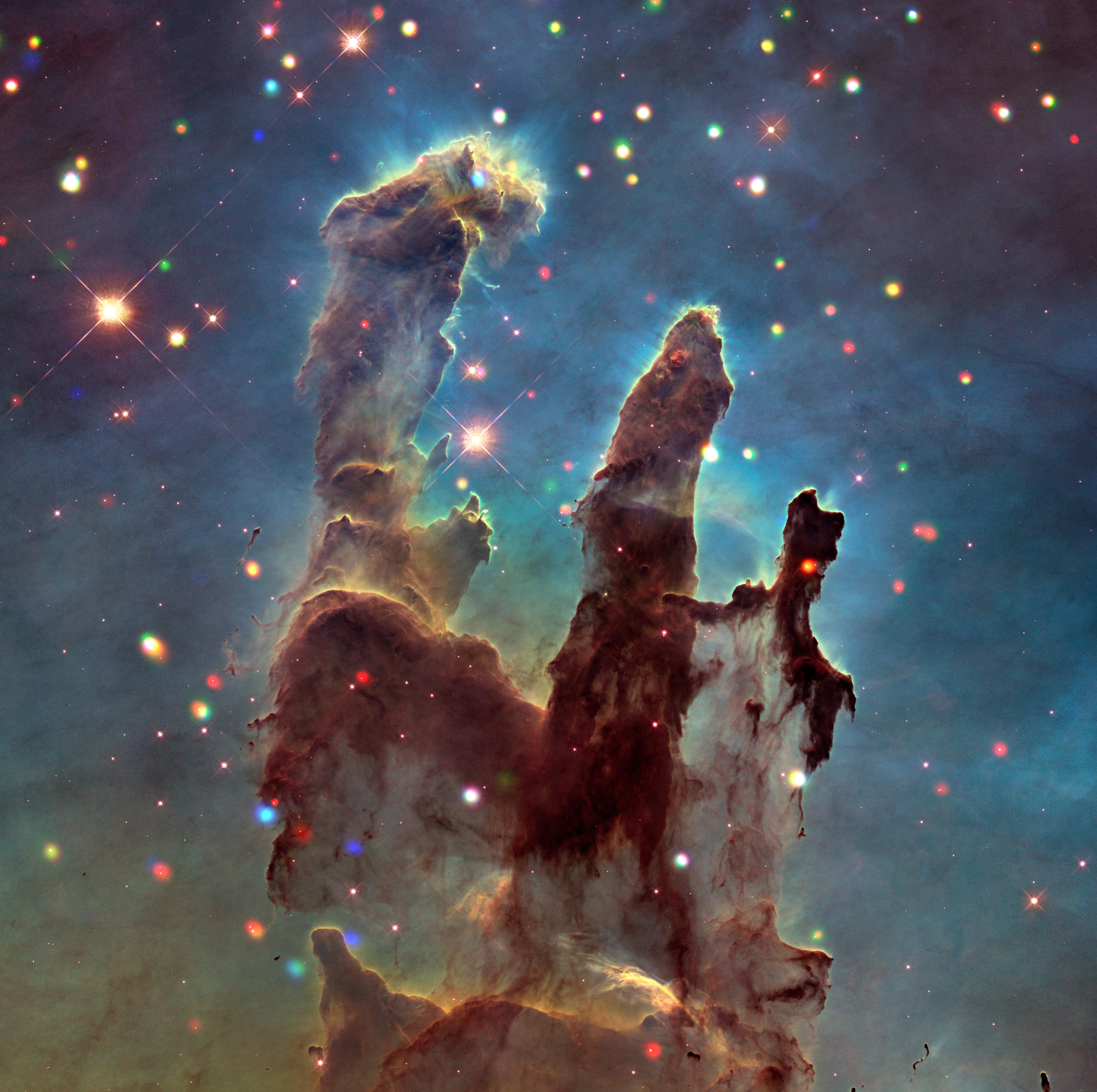 'X'-ploring the Eagle Nebula and 'Pillars of Creation'