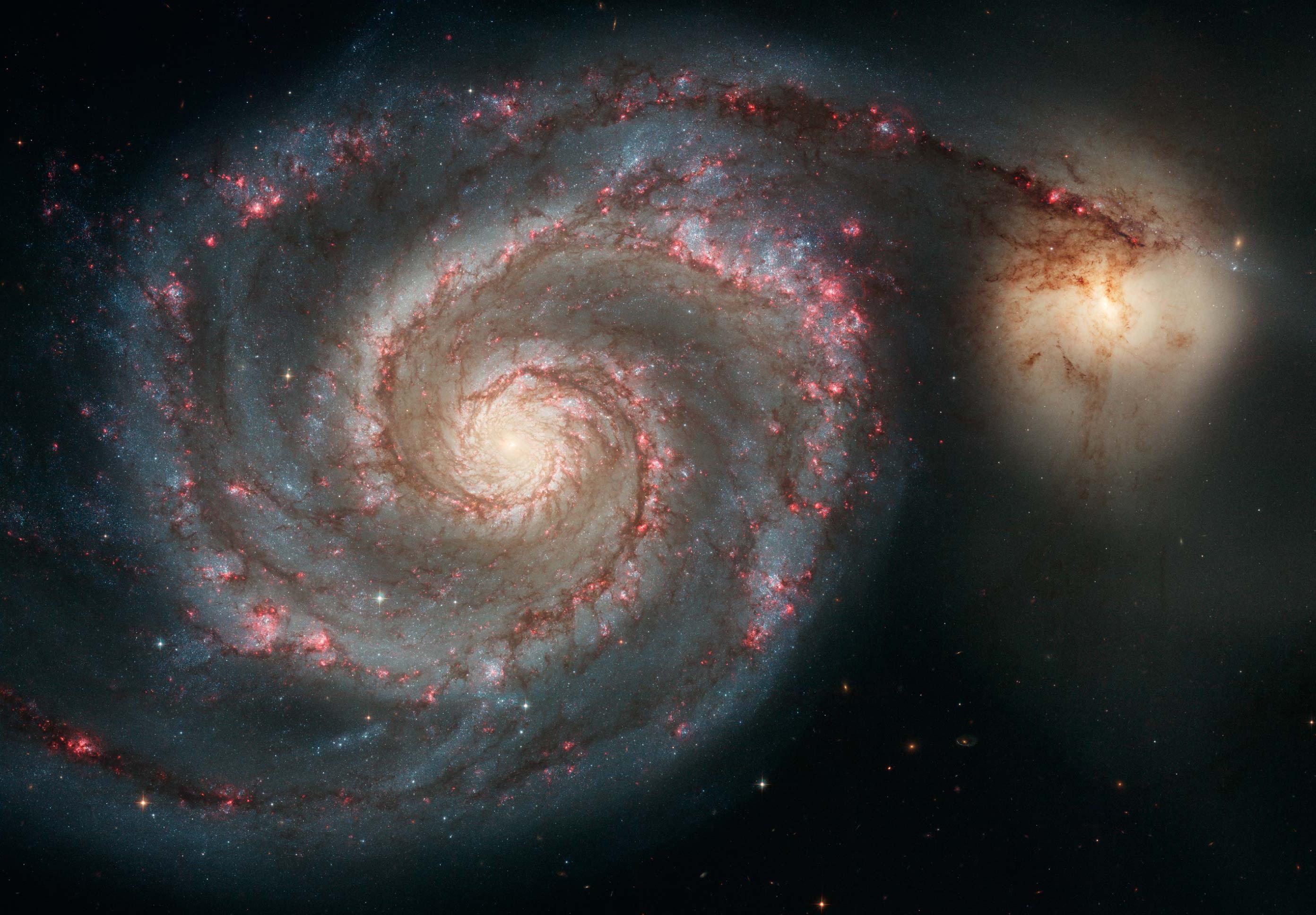 Messier 51 (The Whirlpool Galaxy)   NASA
