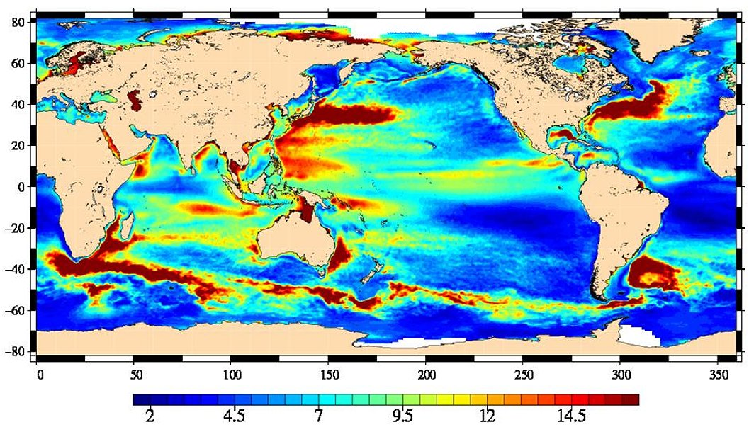 Mapping Sea Surface From The Space Station NASA - Altimeter map
