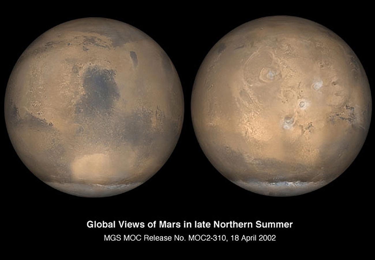 Mars Global Views Of Mars In Late Northern Summer