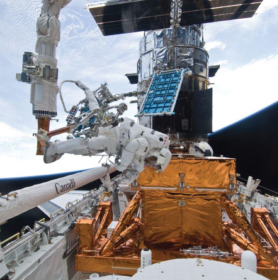 Ultima missione di riparazione nel 2009 Credits: NASA