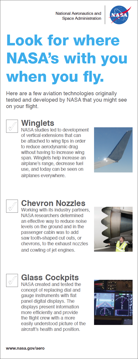 Half Sheet Flyer Checklist Showing Nasa Technology