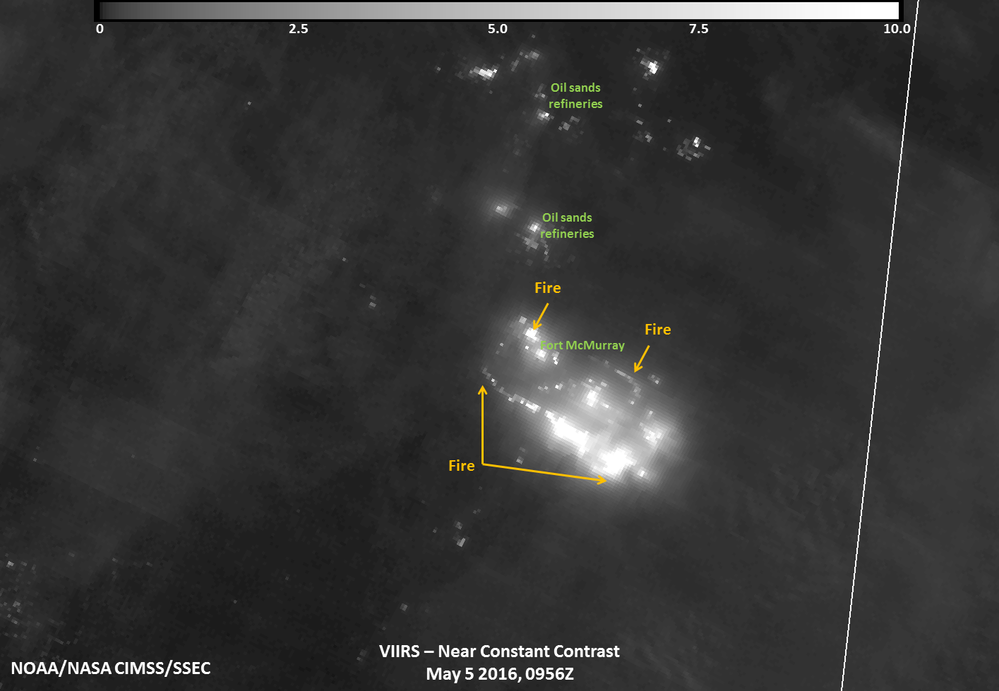 Suomi NPP NCC Image Of Ft McMurray Fire