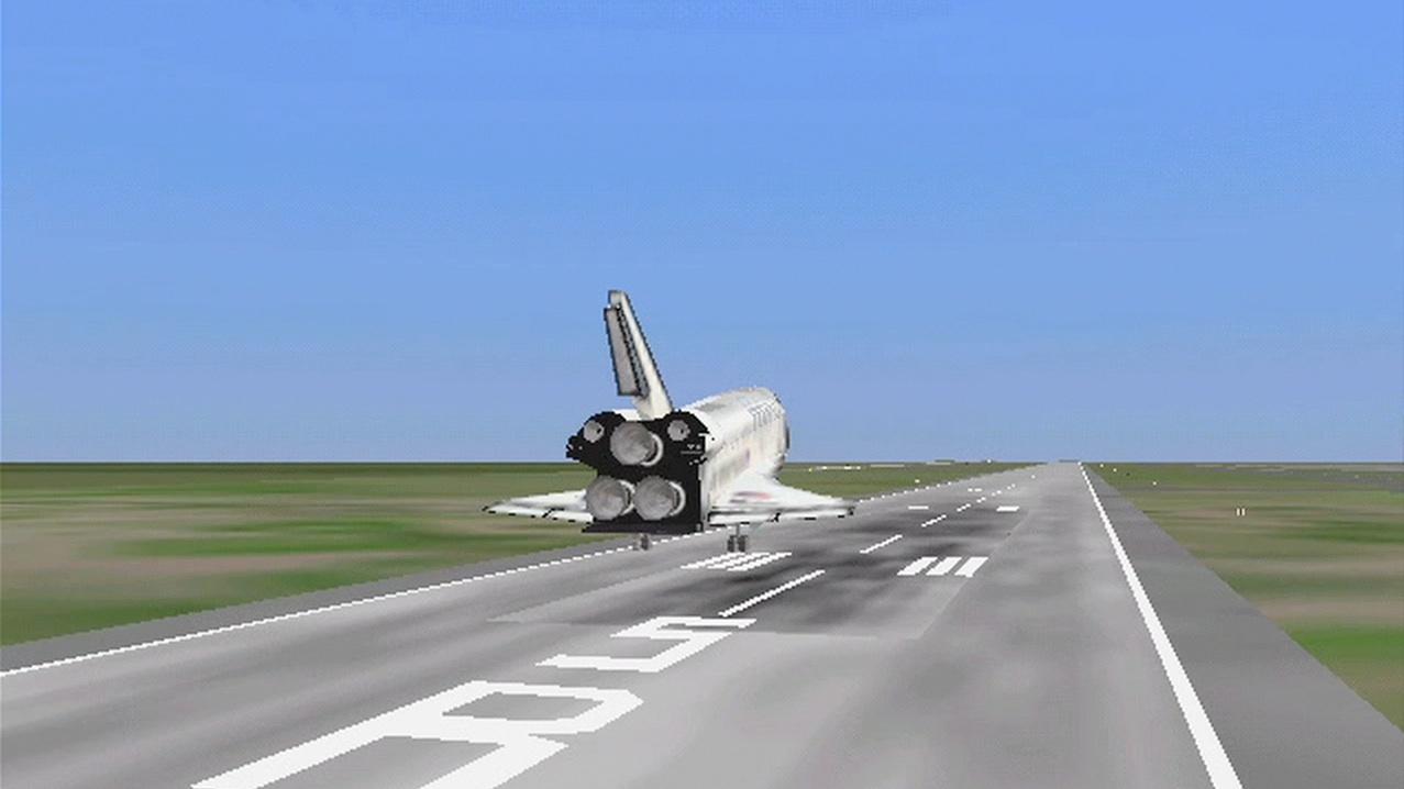 space shuttle landing simulator pc - photo #25