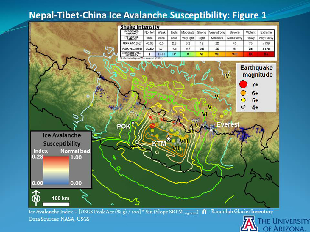 Gorkha EarthquakeInduced Ice Avalanche Susceptibility Map  NASA