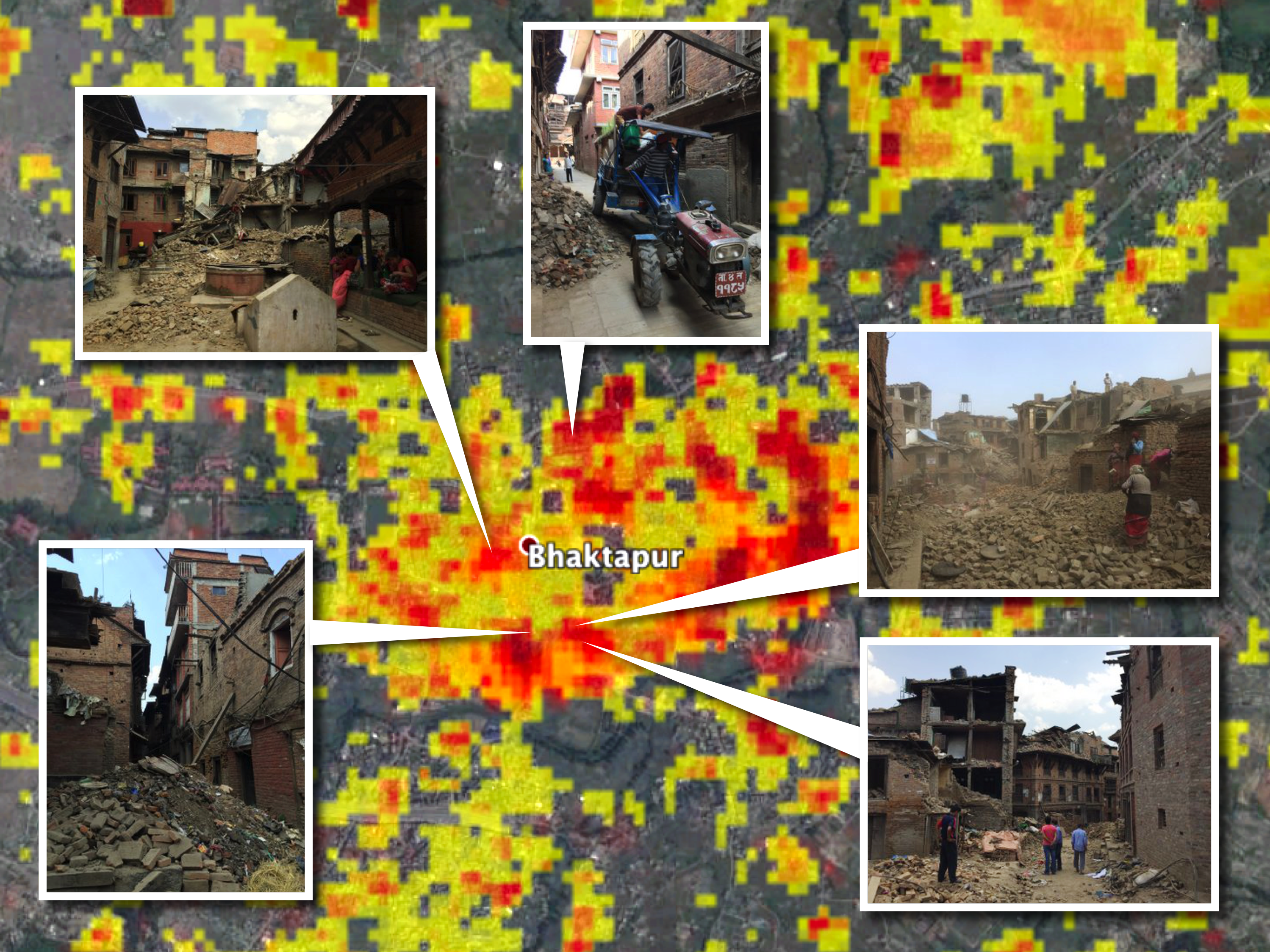 2015 Earthquakes Caused Great Damage In Bhakatpur Nepal