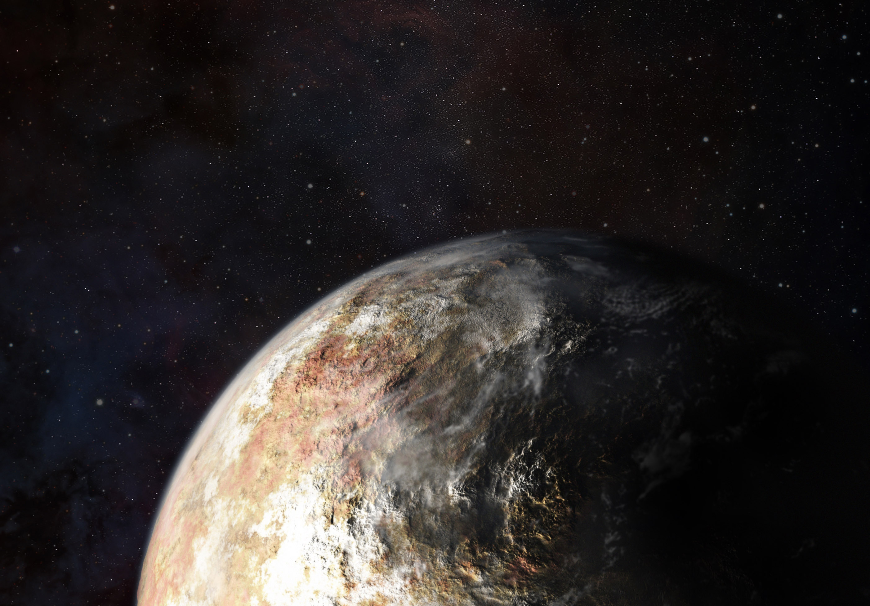 pluto and earth - HD1920×1337