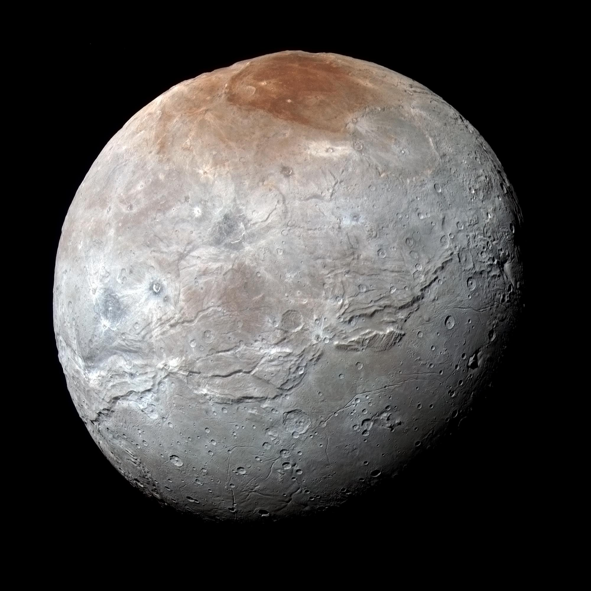 Charon from New Horizons spacecraft (NASA/JPL)