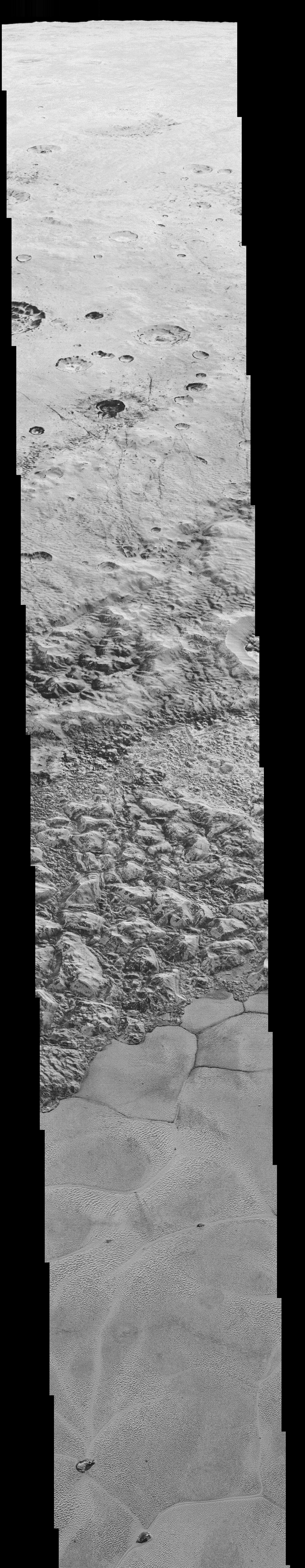 New Horizons : objectif Pluton - Page 6 Nh-craters-mountains-glaciers