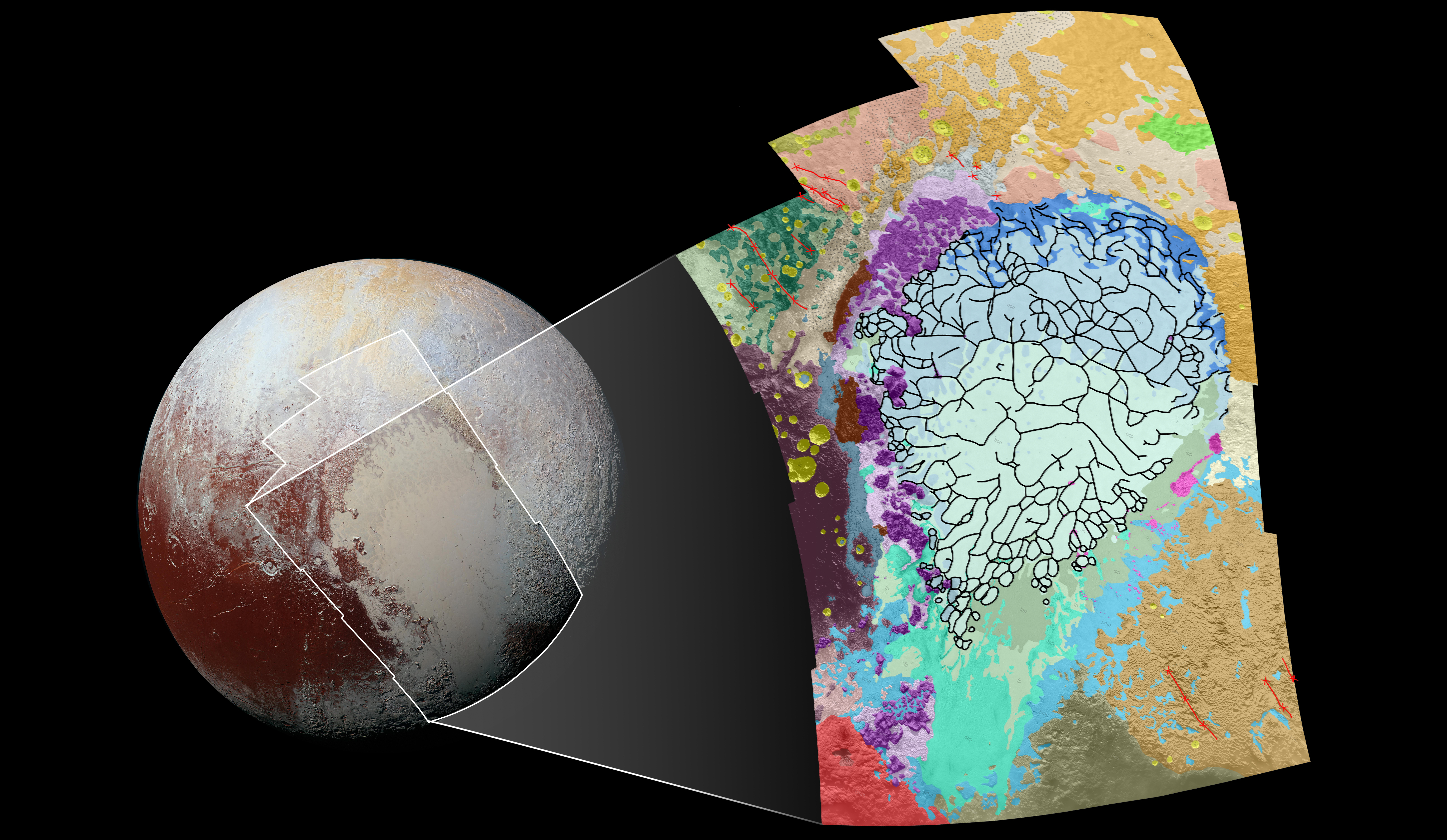 putting pluto s geology on the map nasa