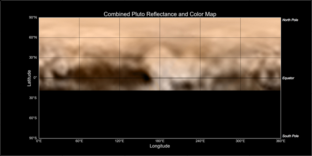 new horizons map of pluto the whale and the donut nasa