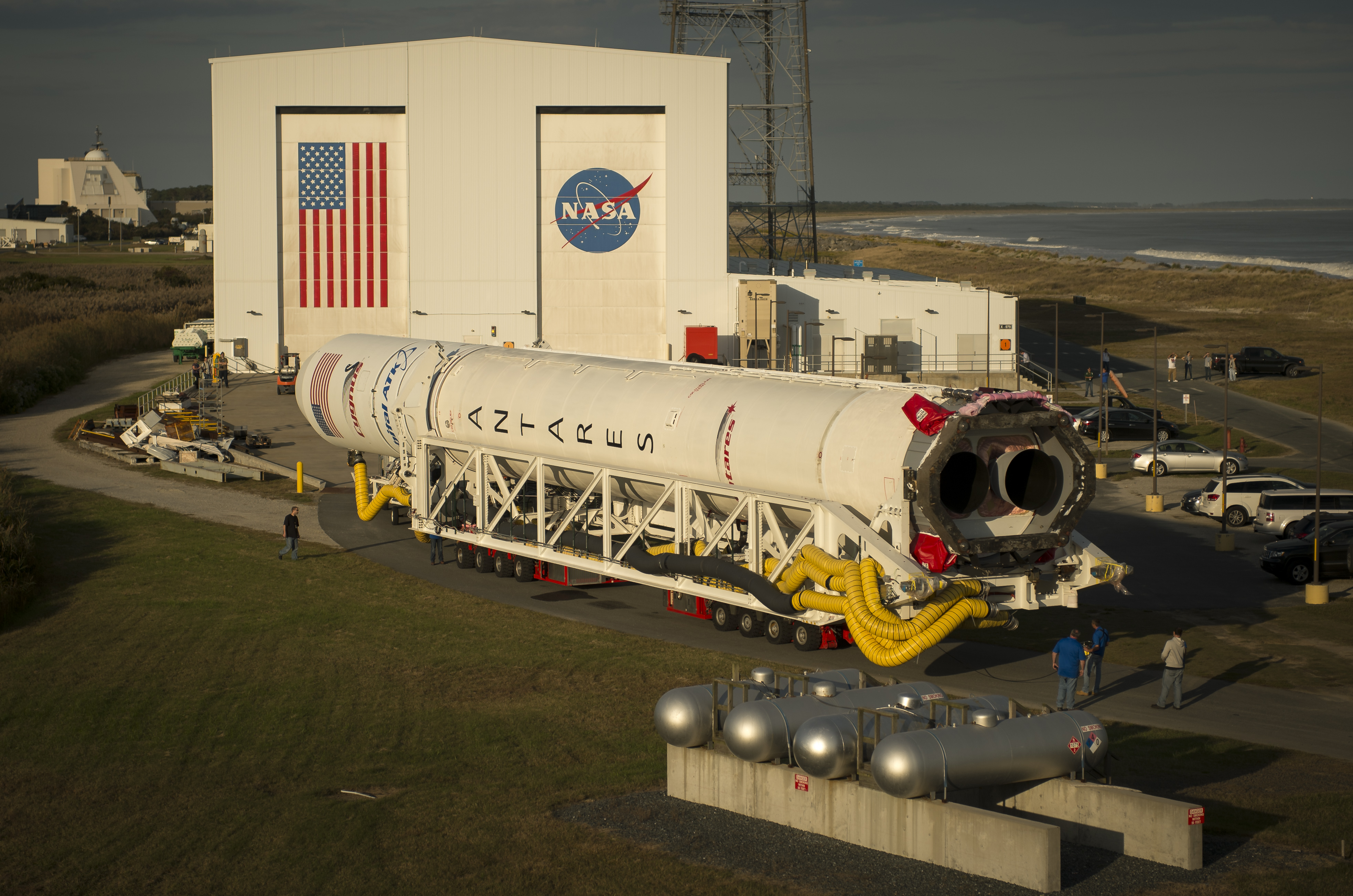 The Orbital ATK Antares rocket with the