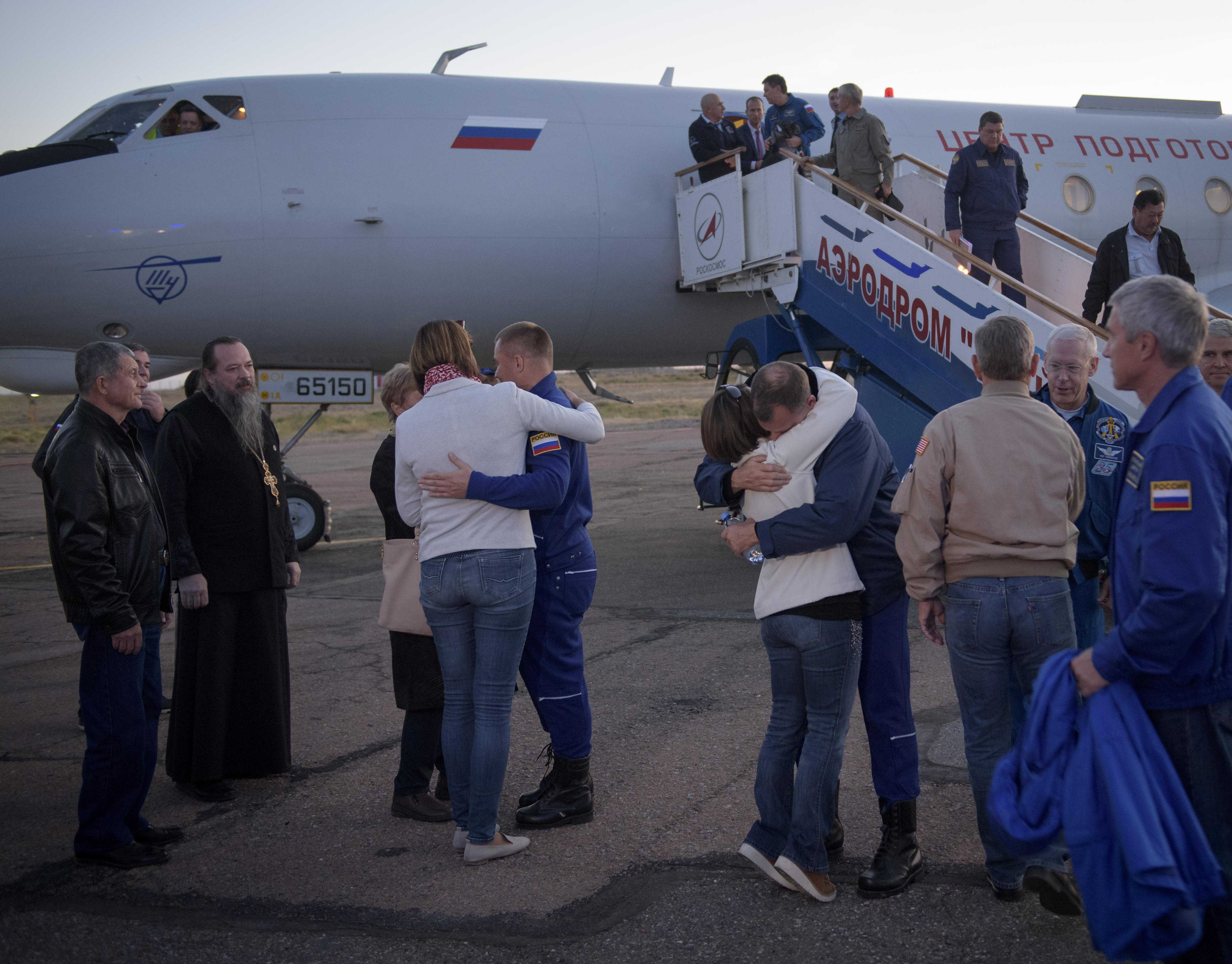 Expedition 57 Crew Returns to Baikonur | NASA