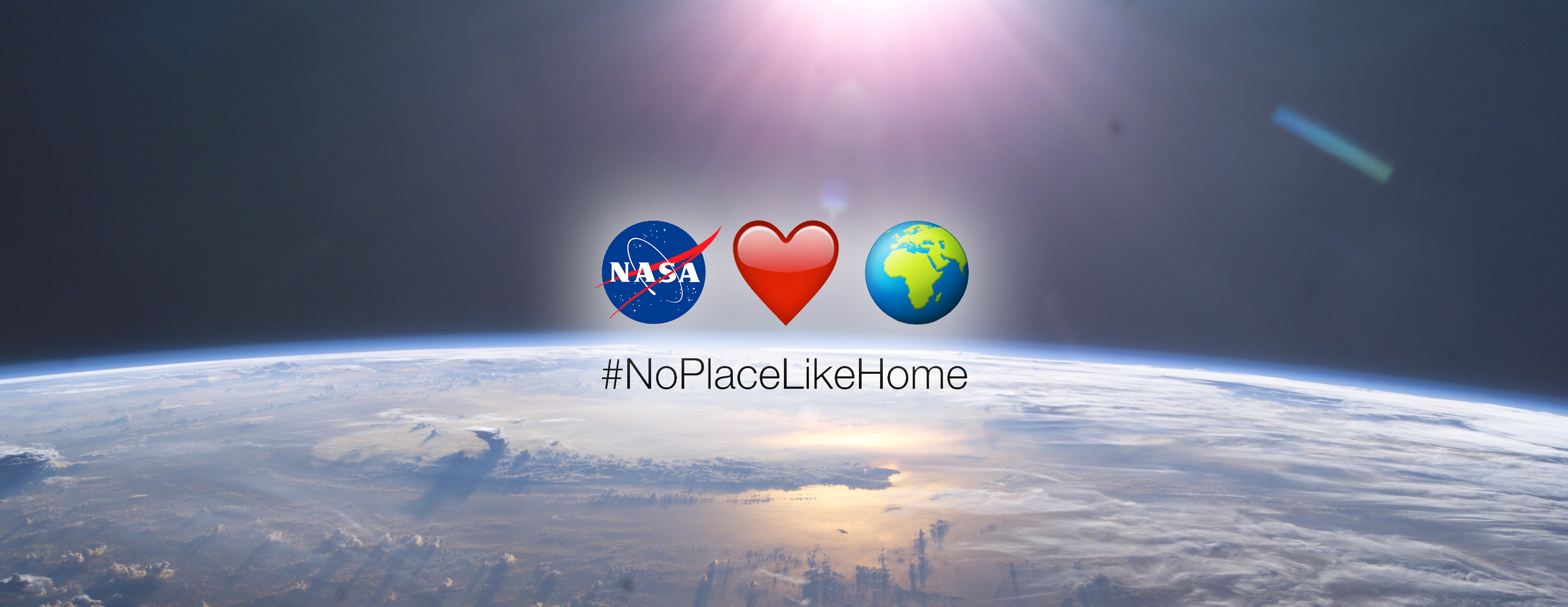 #noplacelikehome Emojis Superimposed Over An Earth Photograph From The Iss